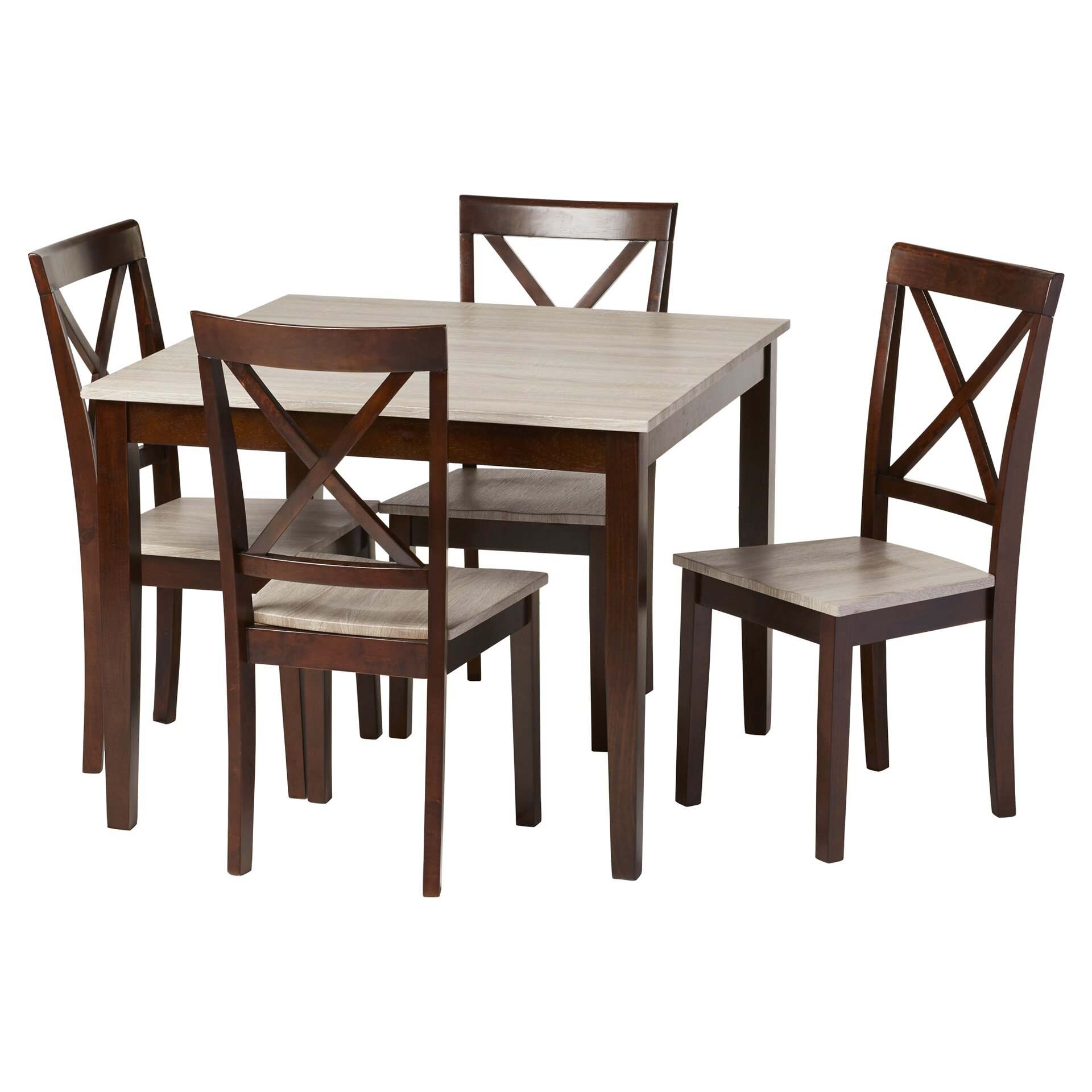 Andover mills tilley rustic 5 piece dining set reviews for Kitchen dining sets