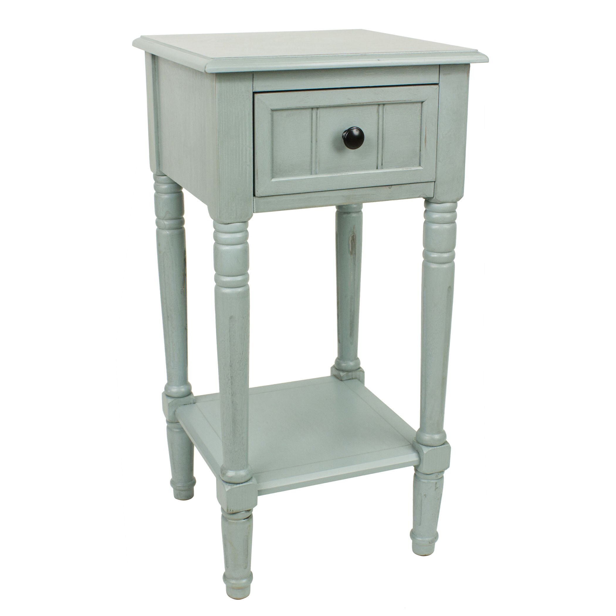 Andover mills everly 1 drawer end table reviews wayfair for End tables for sale near me