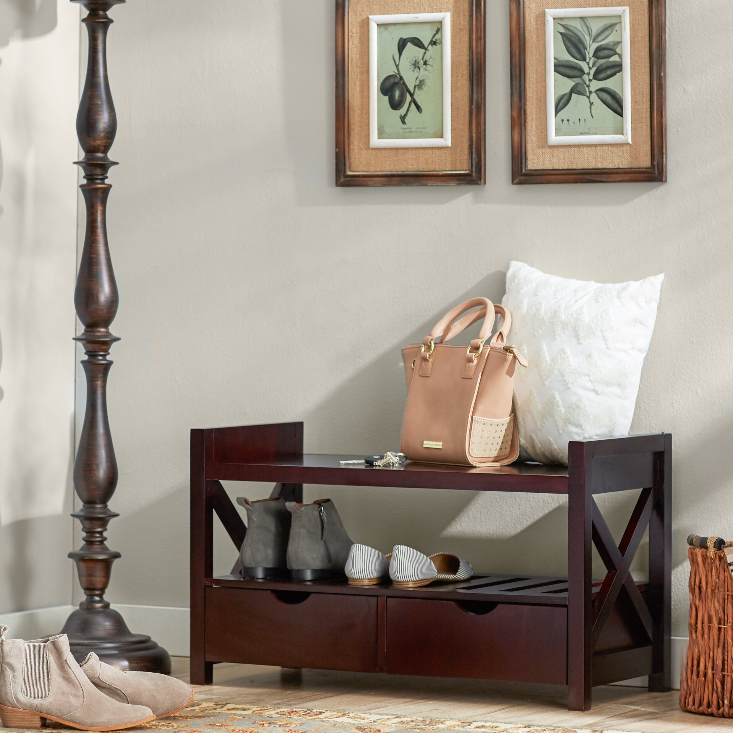 Foyer Mudroom Review : Andover mills cyril storage entryway bench reviews wayfair