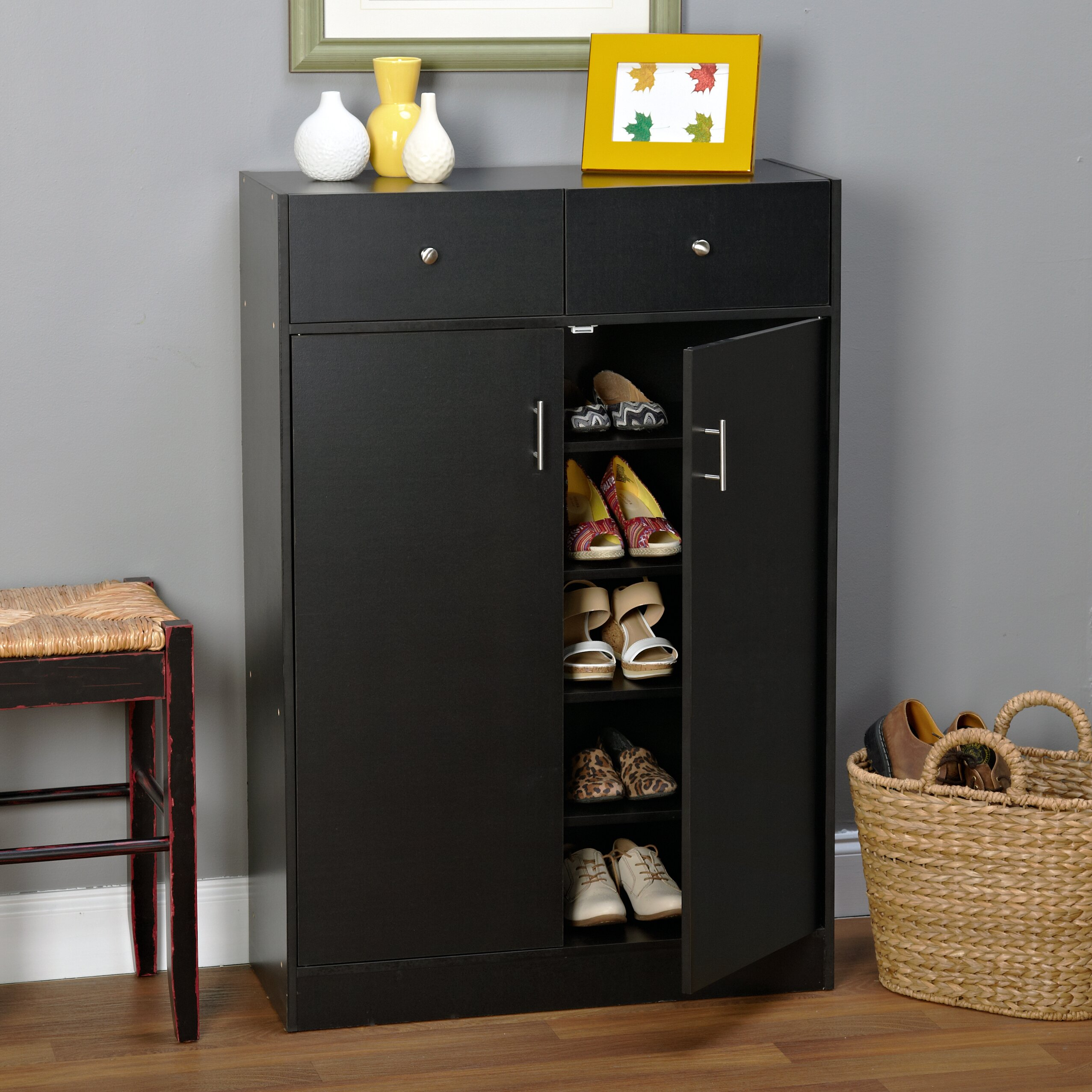 Andover mills 20 pair shoe storage cabinet reviews Entryway storage cabinet