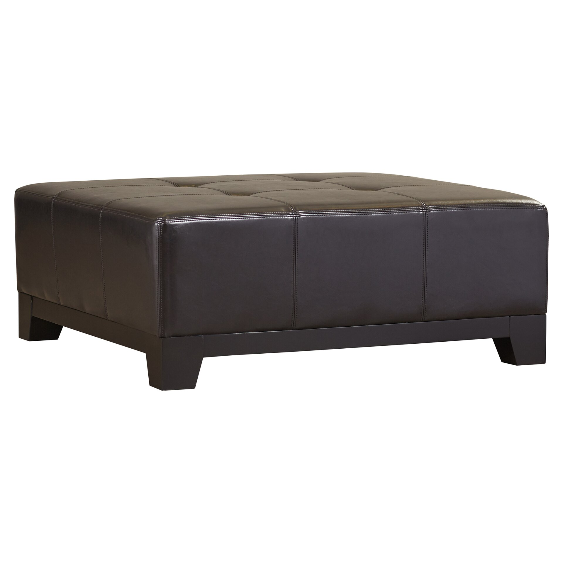 Andover Mills Dessie Leather Cocktail Ottoman Amp Reviews