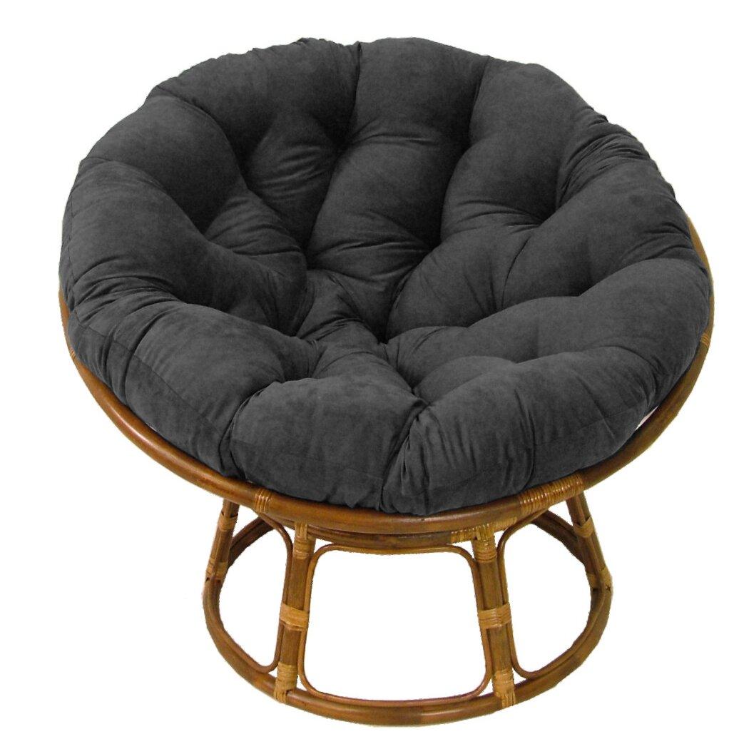 andover mills deborah 42 rattan papasan chair with microsuede cushion reviews wayfair. Black Bedroom Furniture Sets. Home Design Ideas