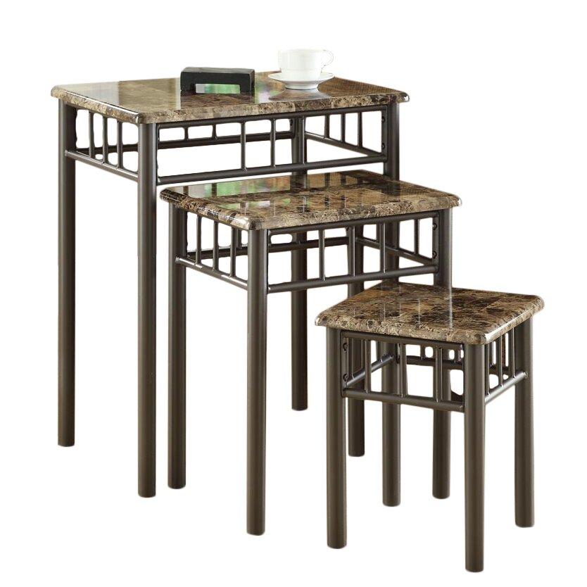 Andover Mills White Oak 3 Piece Nesting Tables Amp Reviews