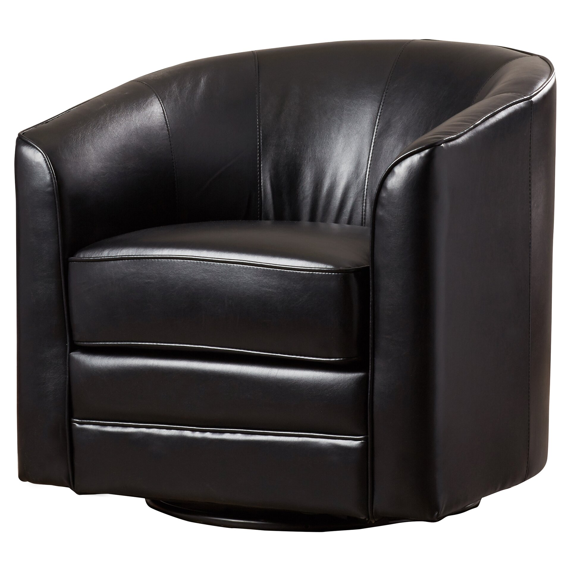 Andover Mills Wells Swivel Barrel Chair & Reviews | Wayfair
