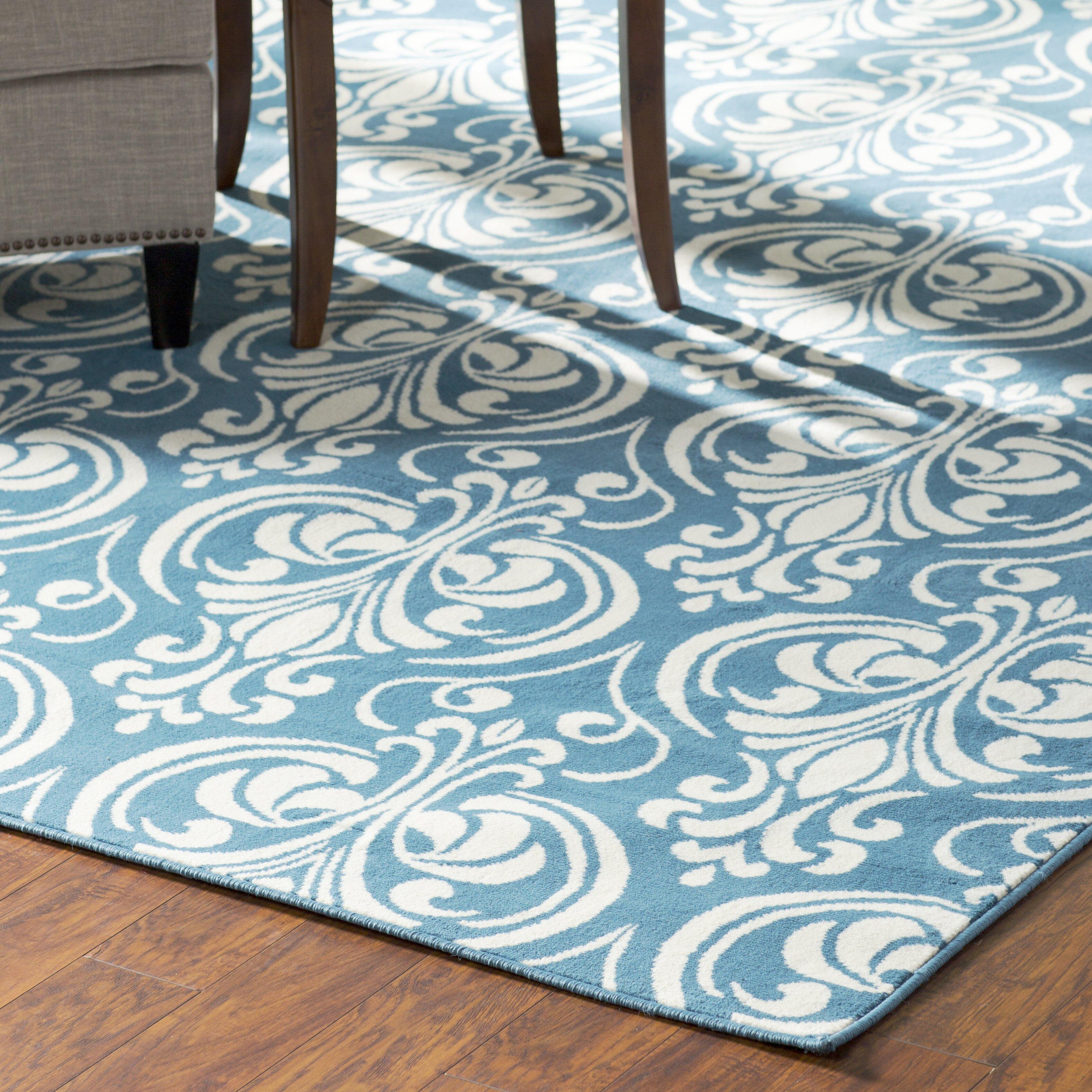 Andover Mills Pearl Blue Indoor Outdoor Area Rug & Reviews