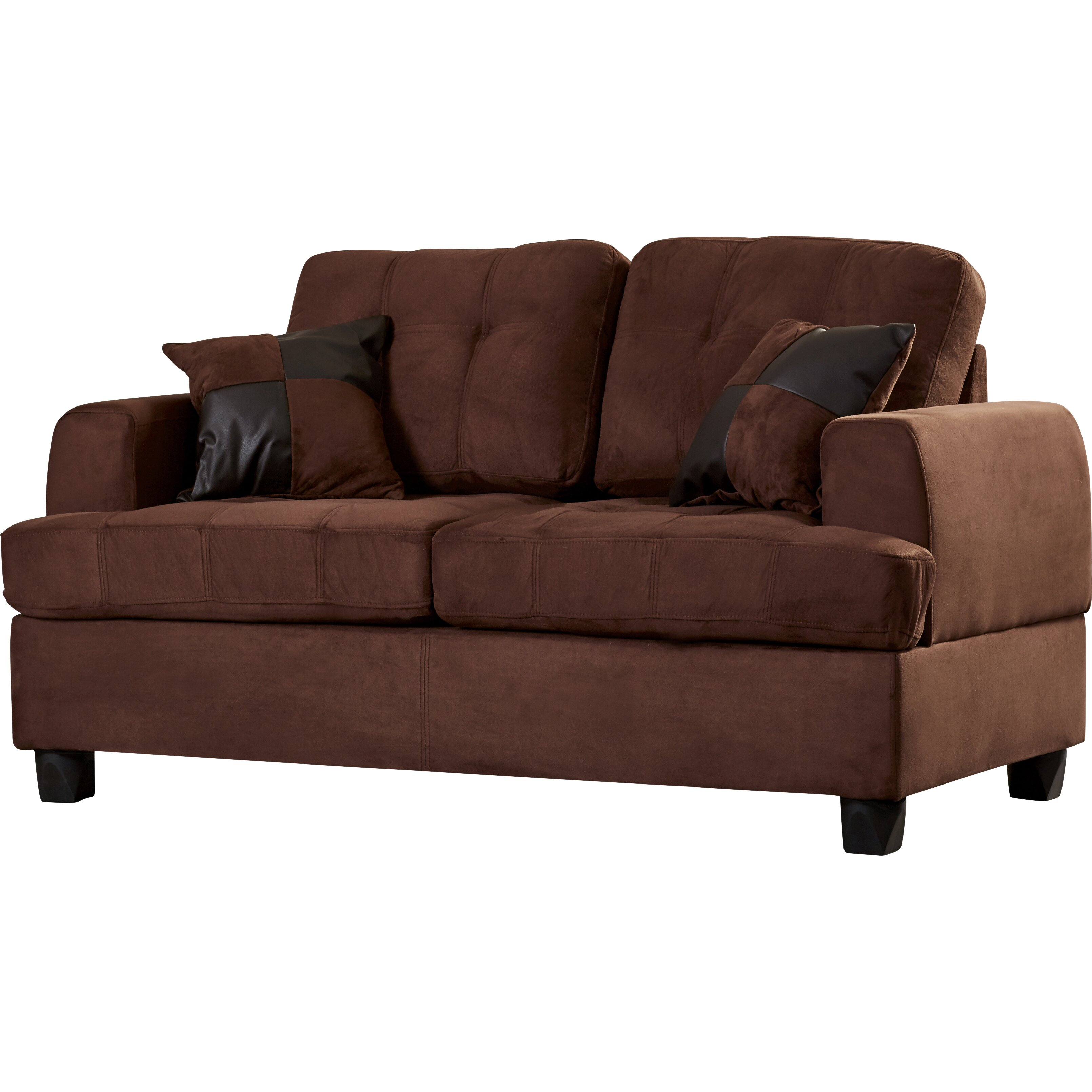 Andover mills birchview sofa and loveseat set reviews for Sofa loveseat and chair set