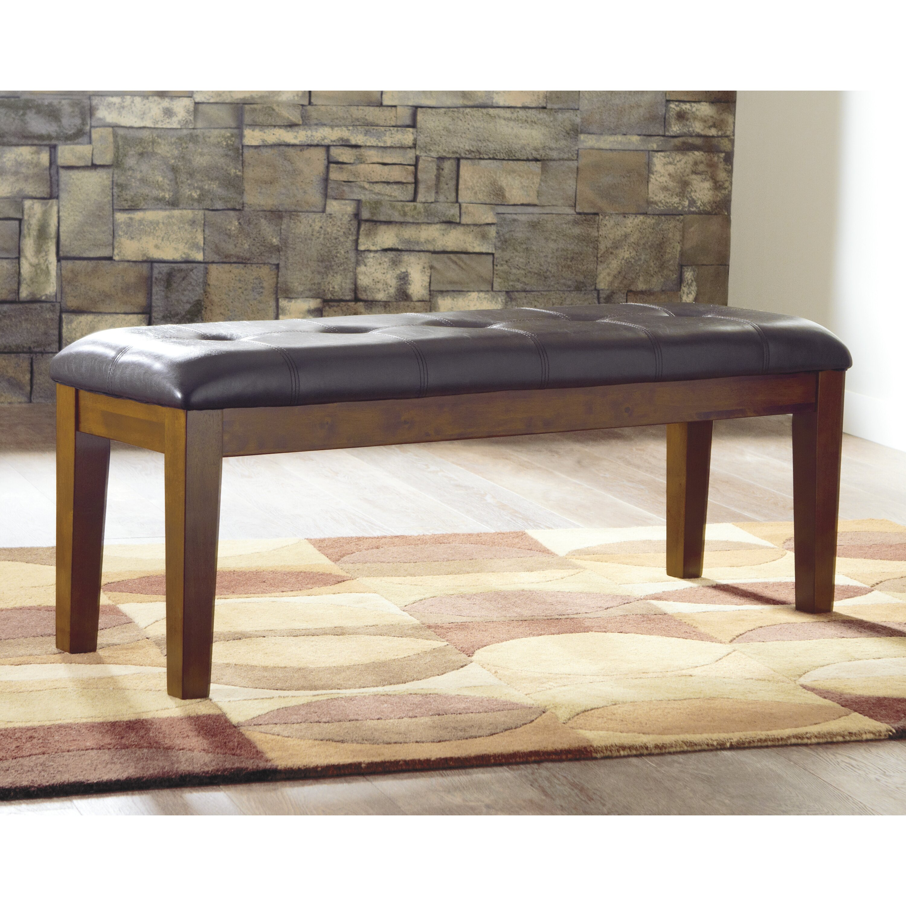 Andover Mills Ravenwood Upholstered Storage Bench: Andover Mills Rebecca Upholstered Kitchen Bench & Reviews