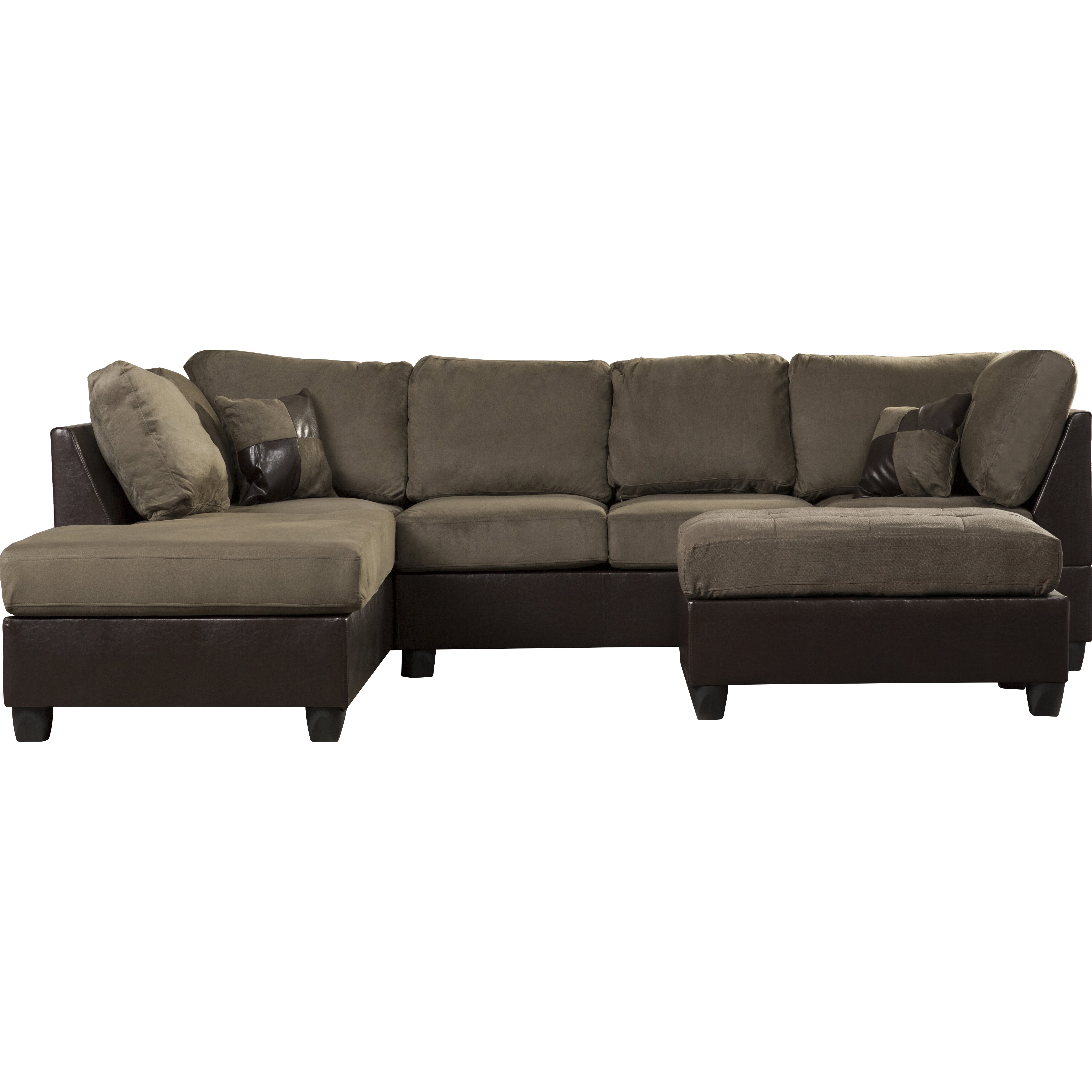 Andover Mills Corporate 112 Reversible Chaise Sectional Sofa Reviews Wayfair