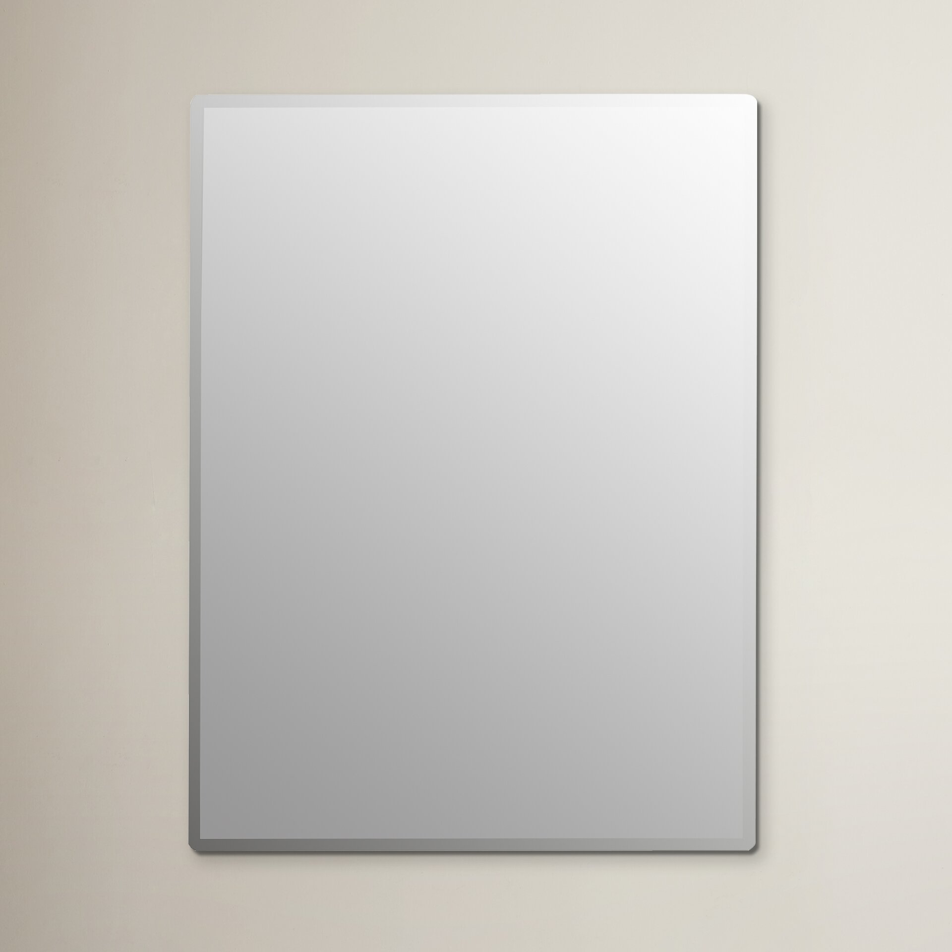 quick view frameless wall mirror bathroom mirrors