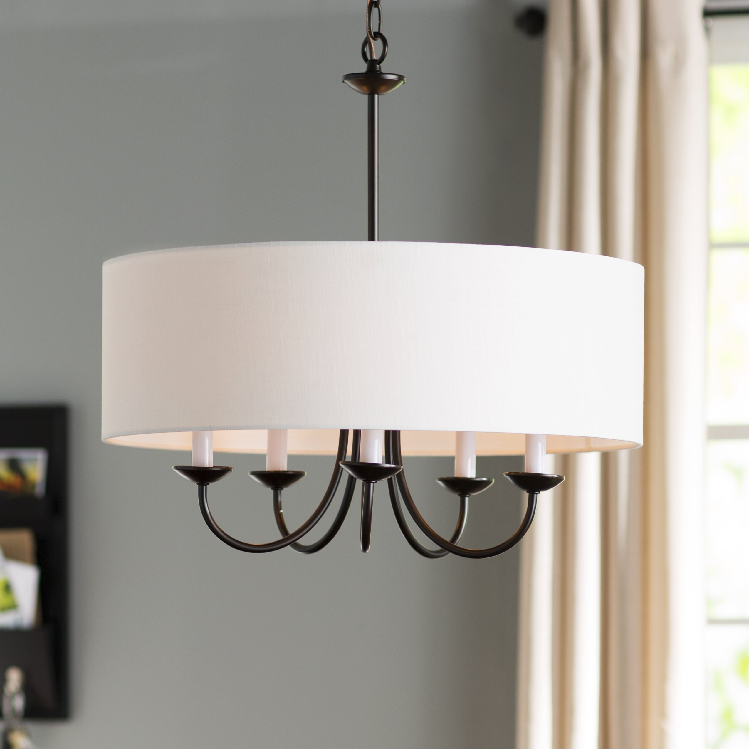 Andover Mills Burton 5 Light Drum Chandelier & Reviews ...