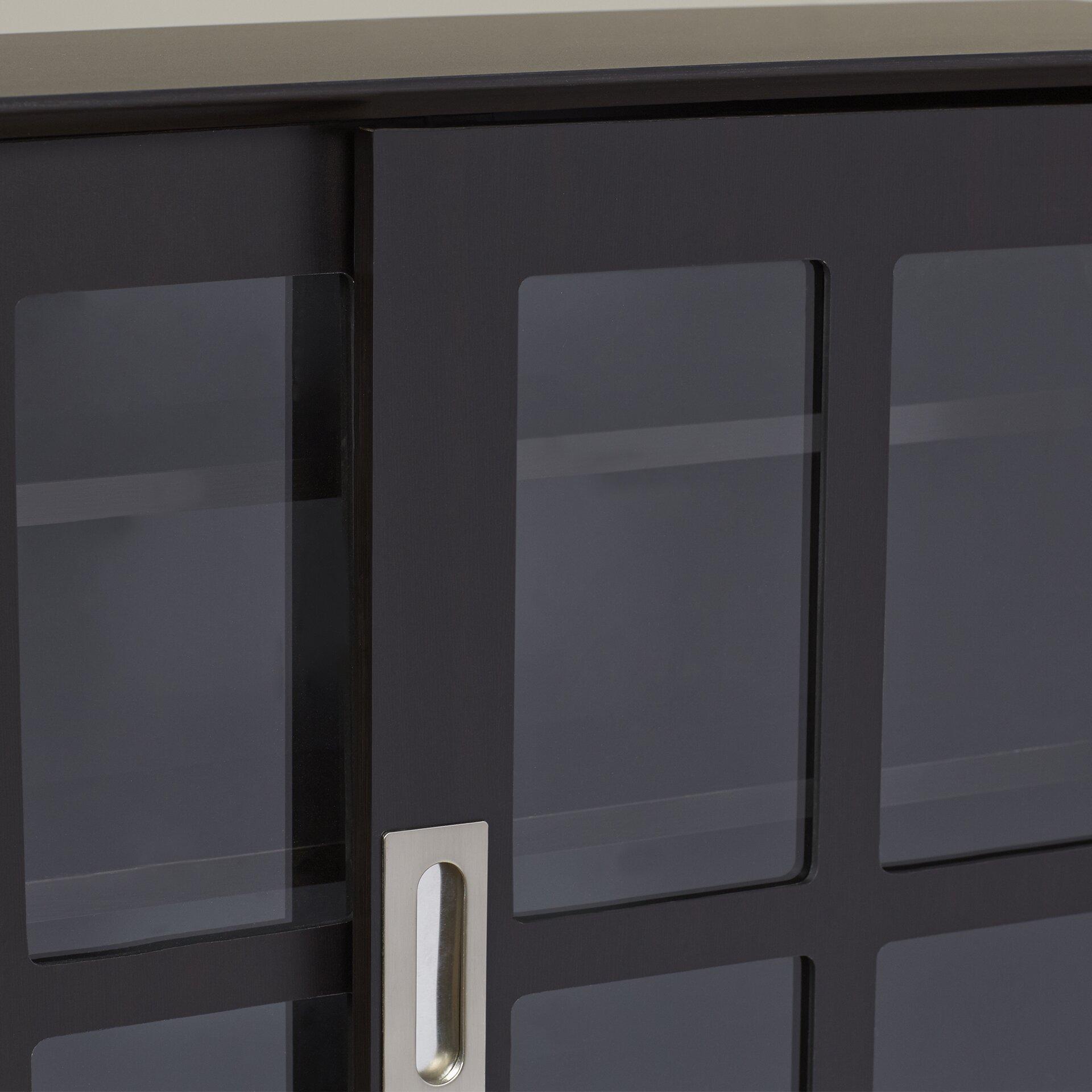 andover mills oscar multimedia cabinet reviews wayfair. Black Bedroom Furniture Sets. Home Design Ideas