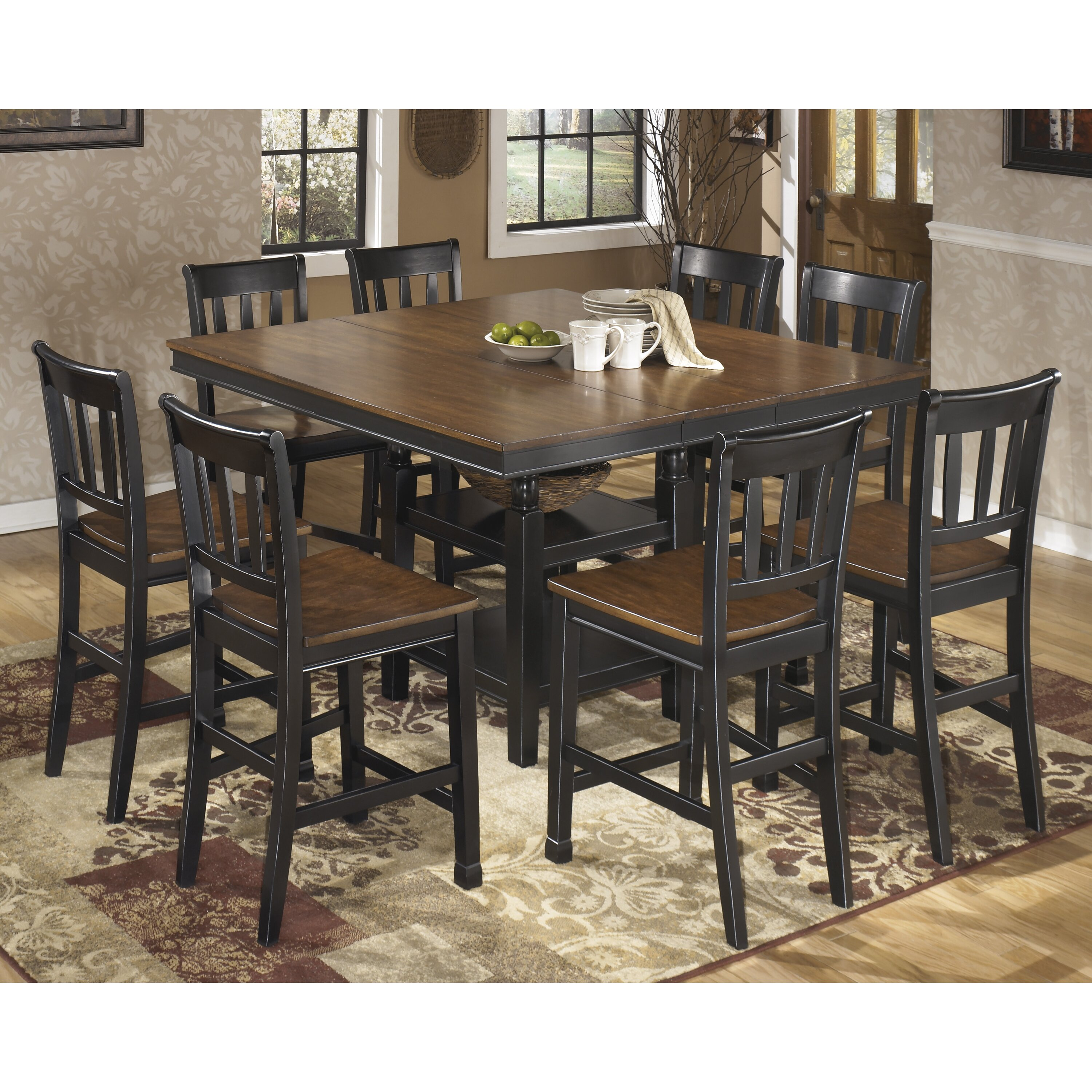 Andover mills velma counter height extendable dining table for Counter height extendable dining table