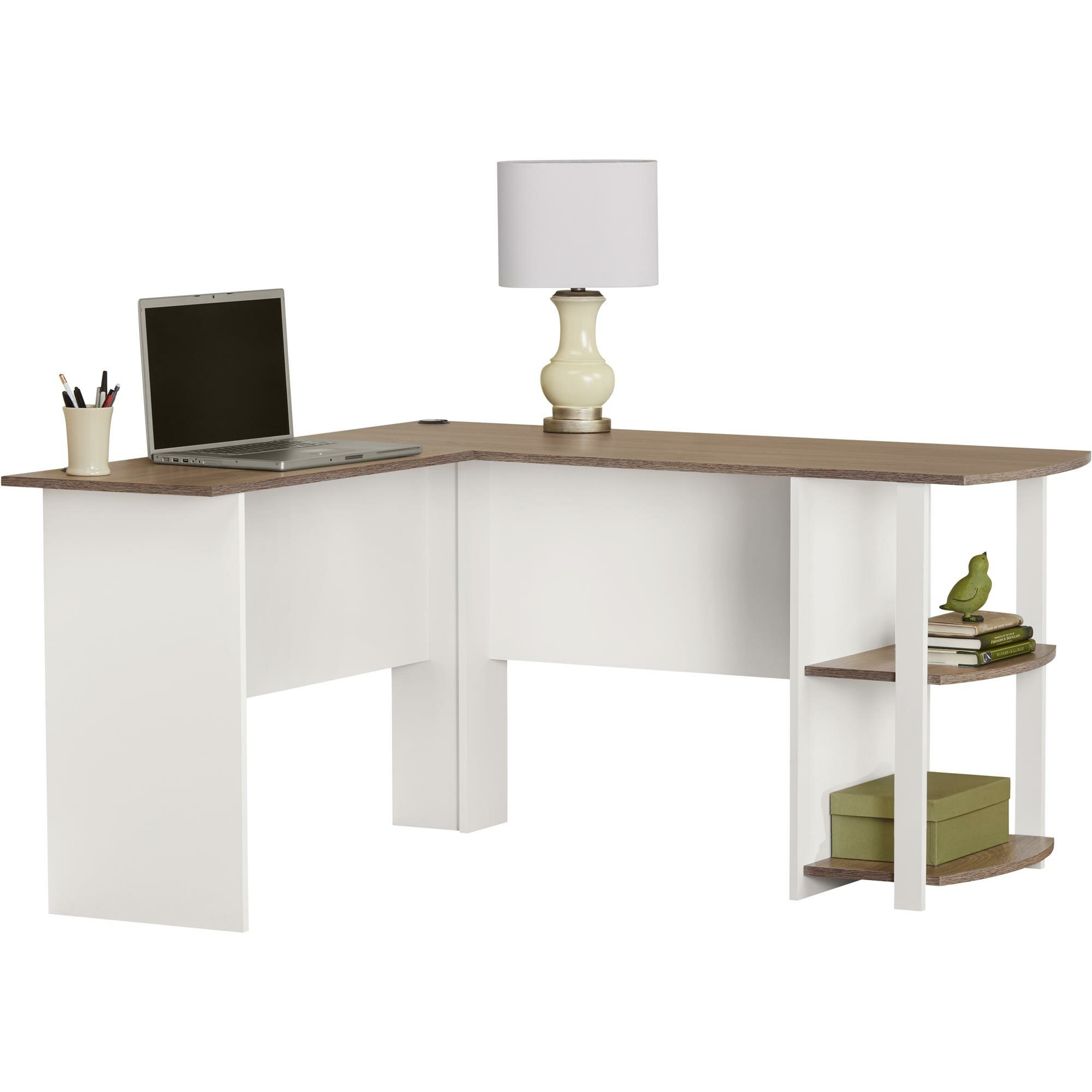 corner white computer wooden desks shaped left small of workstation l puter hutch bench and desk sale deep with for full metal size design storage side