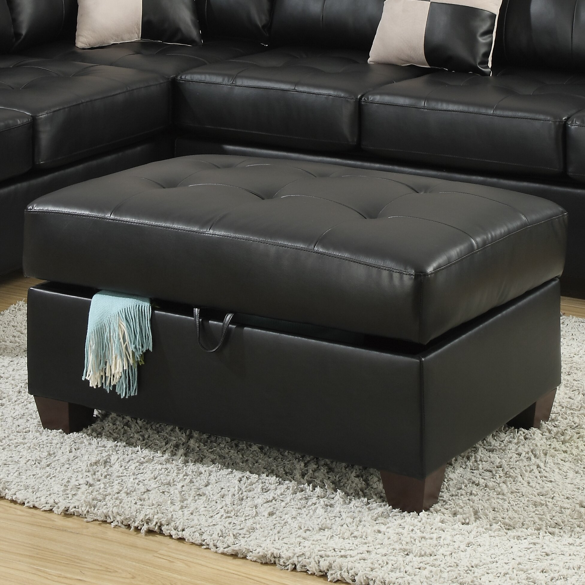 Andover Mills Corporate Bonded Leather Oversized Storage