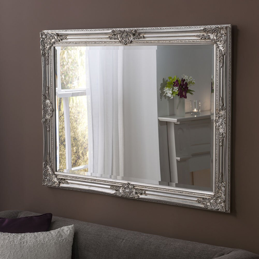 Yearn Mirrors Florence Silver Wall Mirror & Reviews ... on Wall Mirrors id=74509