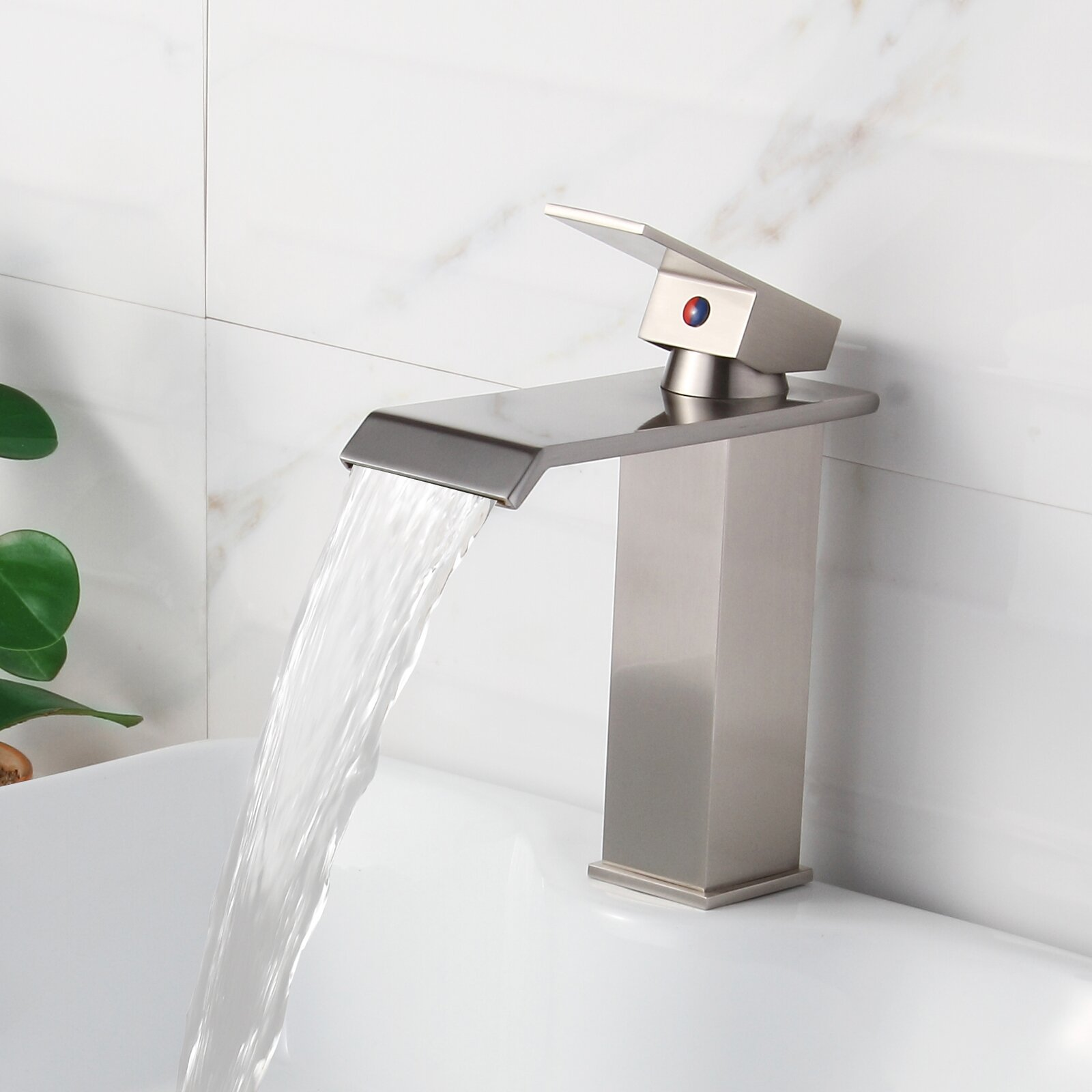Elite Single Handle Bathroom Waterfall Faucet Reviews Wayfair
