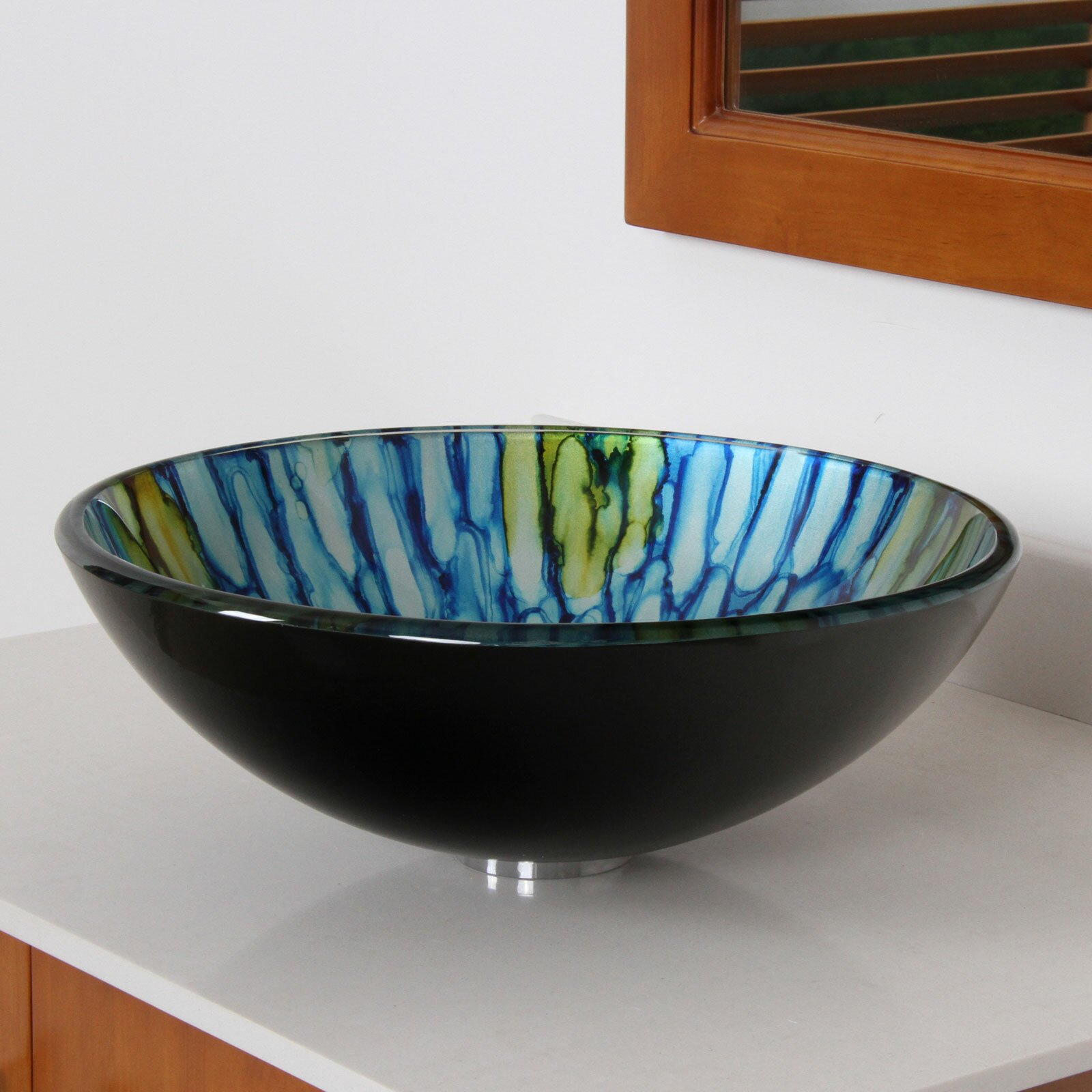 Elite Double Layered Glass Bowl Bathroom Sink & Reviews Wayfair ...