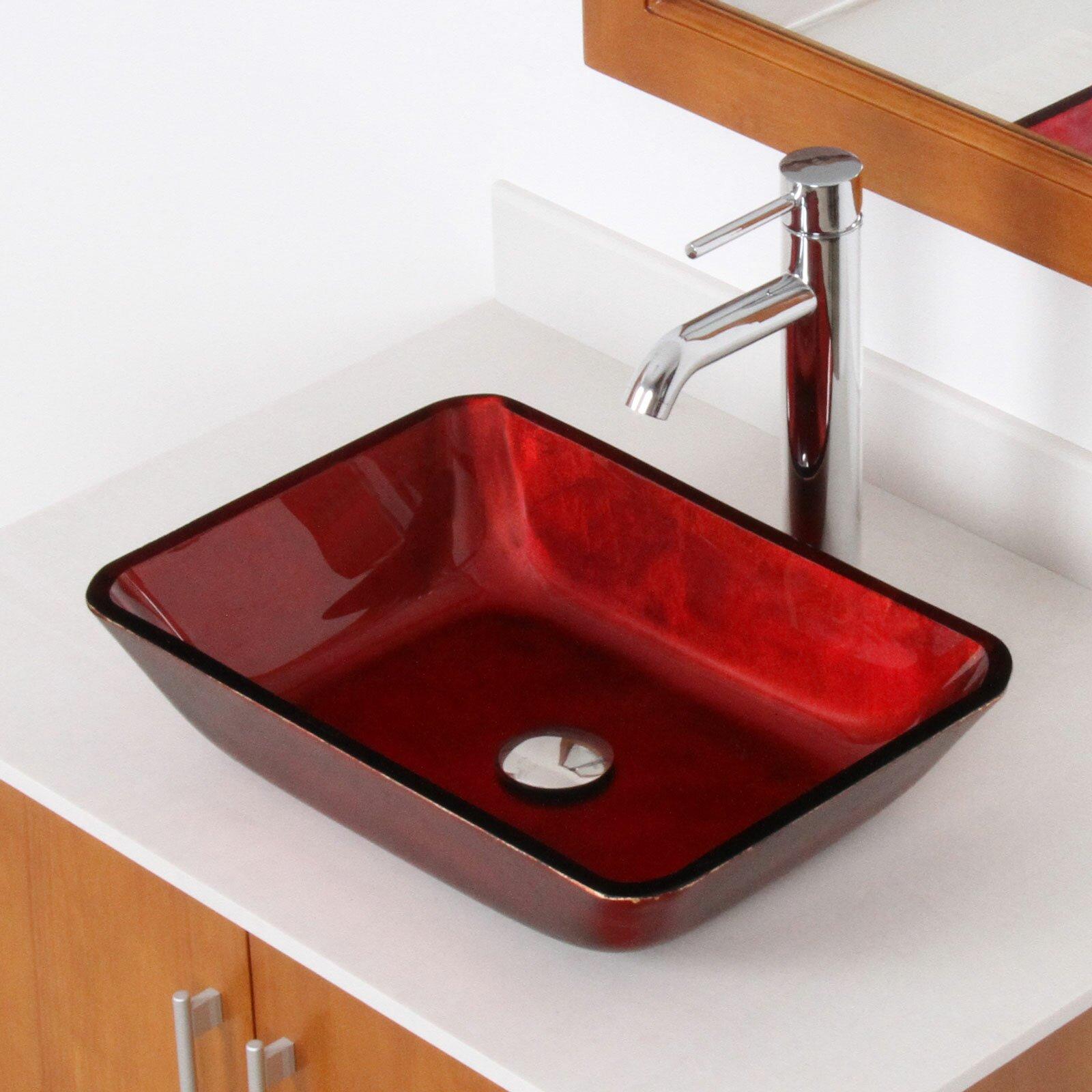 Elite hand painted velvet rectangle flat bottom vessel for Flat bathroom sinks