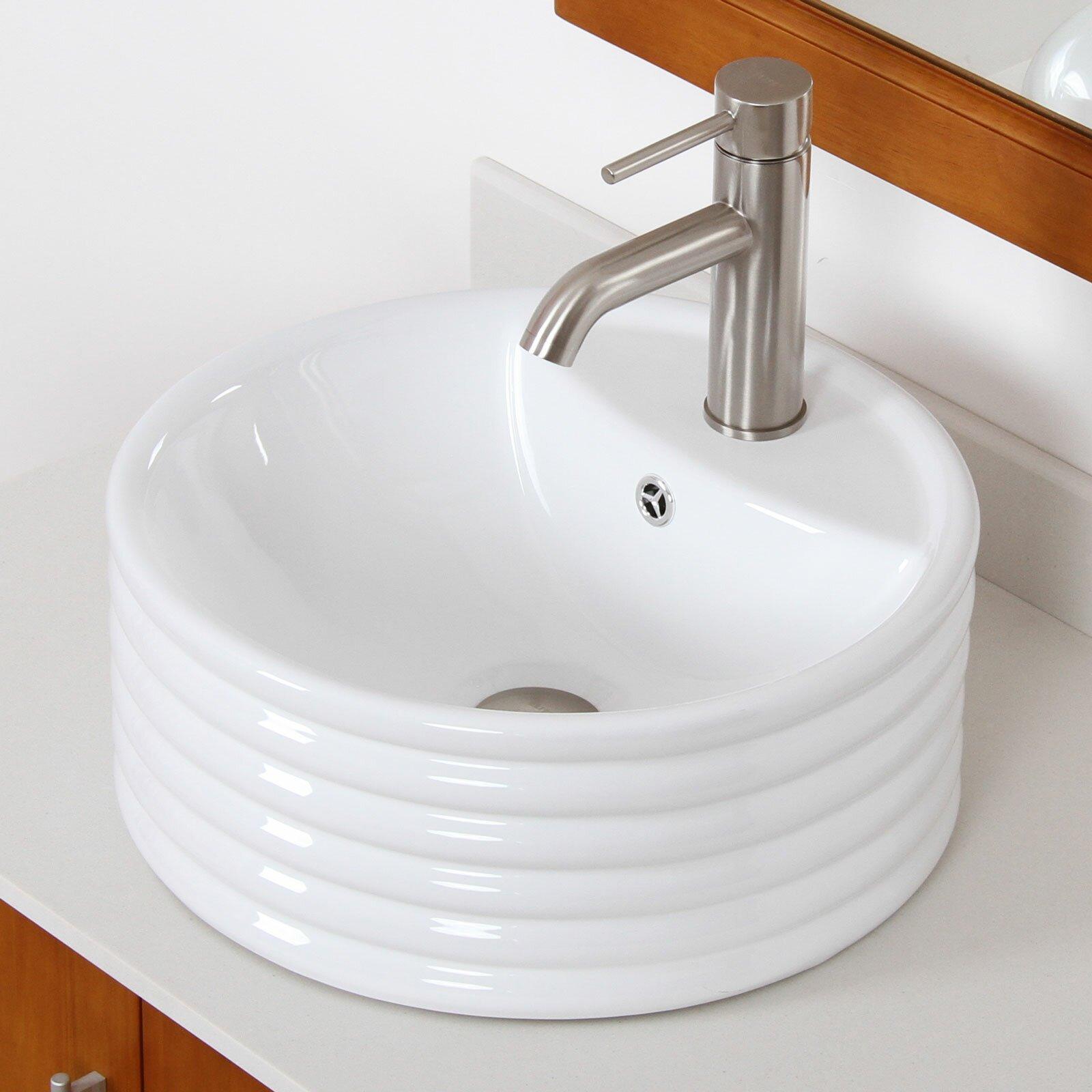 Elite Single Handle Bathroom Sink Faucet with Horizontal ...