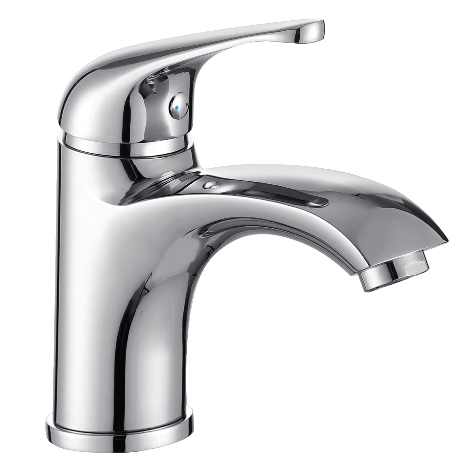 Elite Single Handle Bathroom Faucet With Edged Spout Reviews Wayfair