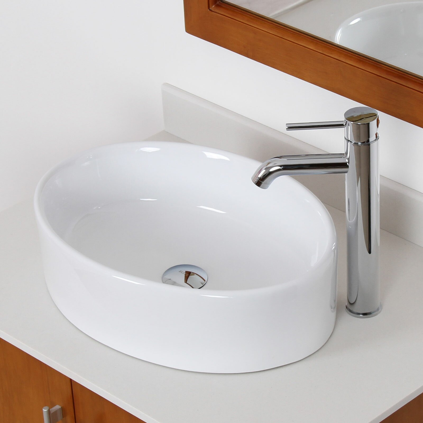 Elite Ceramic Elliptical Bathroom Sink & Reviews Wayfair.ca