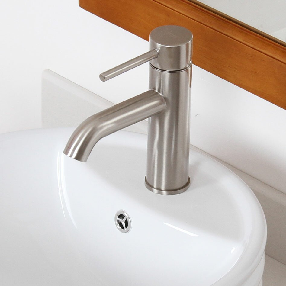Elite Single Handle Bathroom Sink Faucet With Horizontal Dip Tip Spout Reviews Wayfair Supply