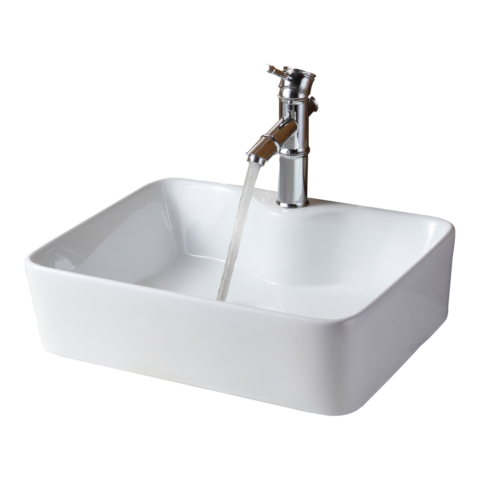 Elite Ceramic Rectangular Vessel Bathroom Sink & Reviews Wayfair
