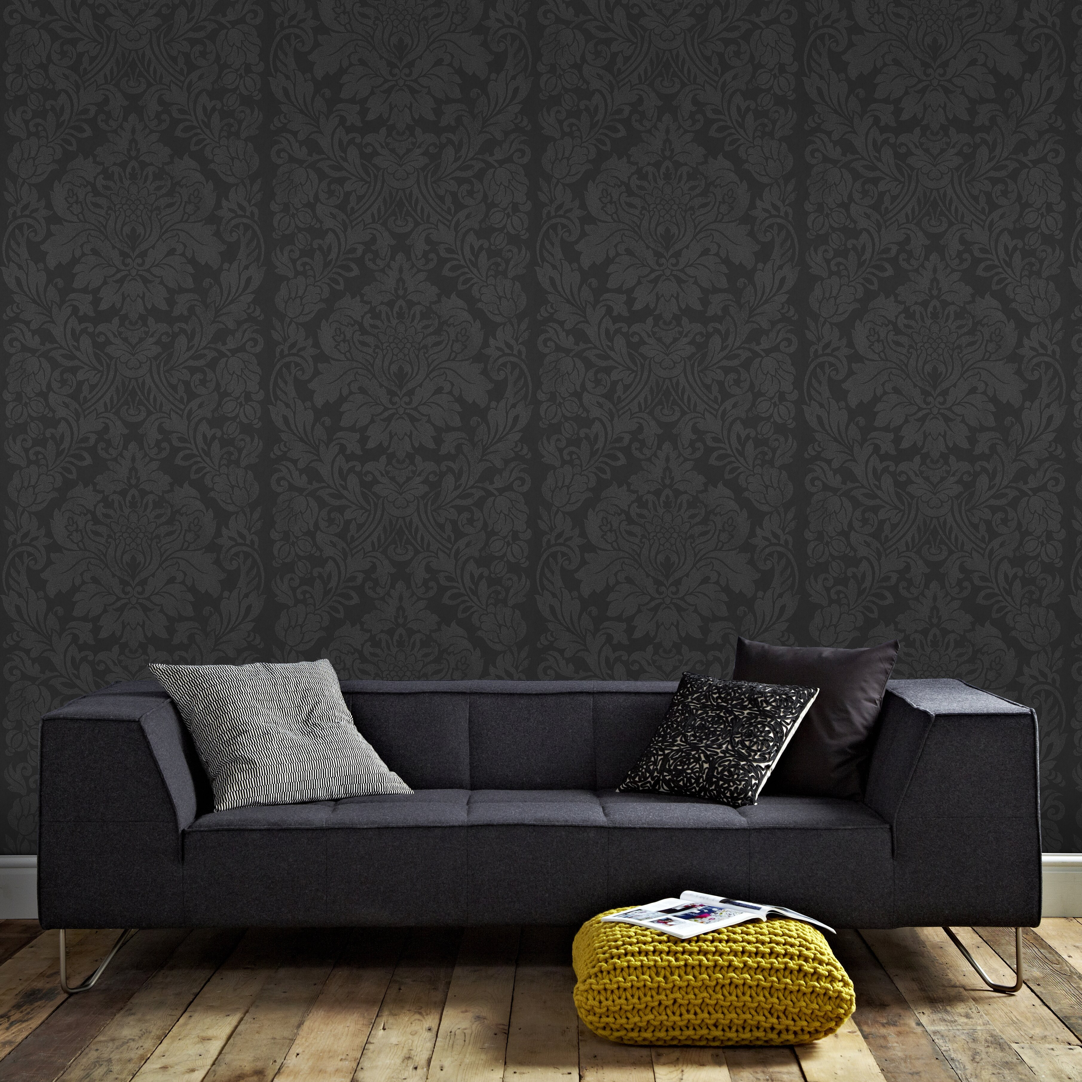 graham brown artisan gloriana 33 39 x 20 damask wallpaper reviews wayfair. Black Bedroom Furniture Sets. Home Design Ideas