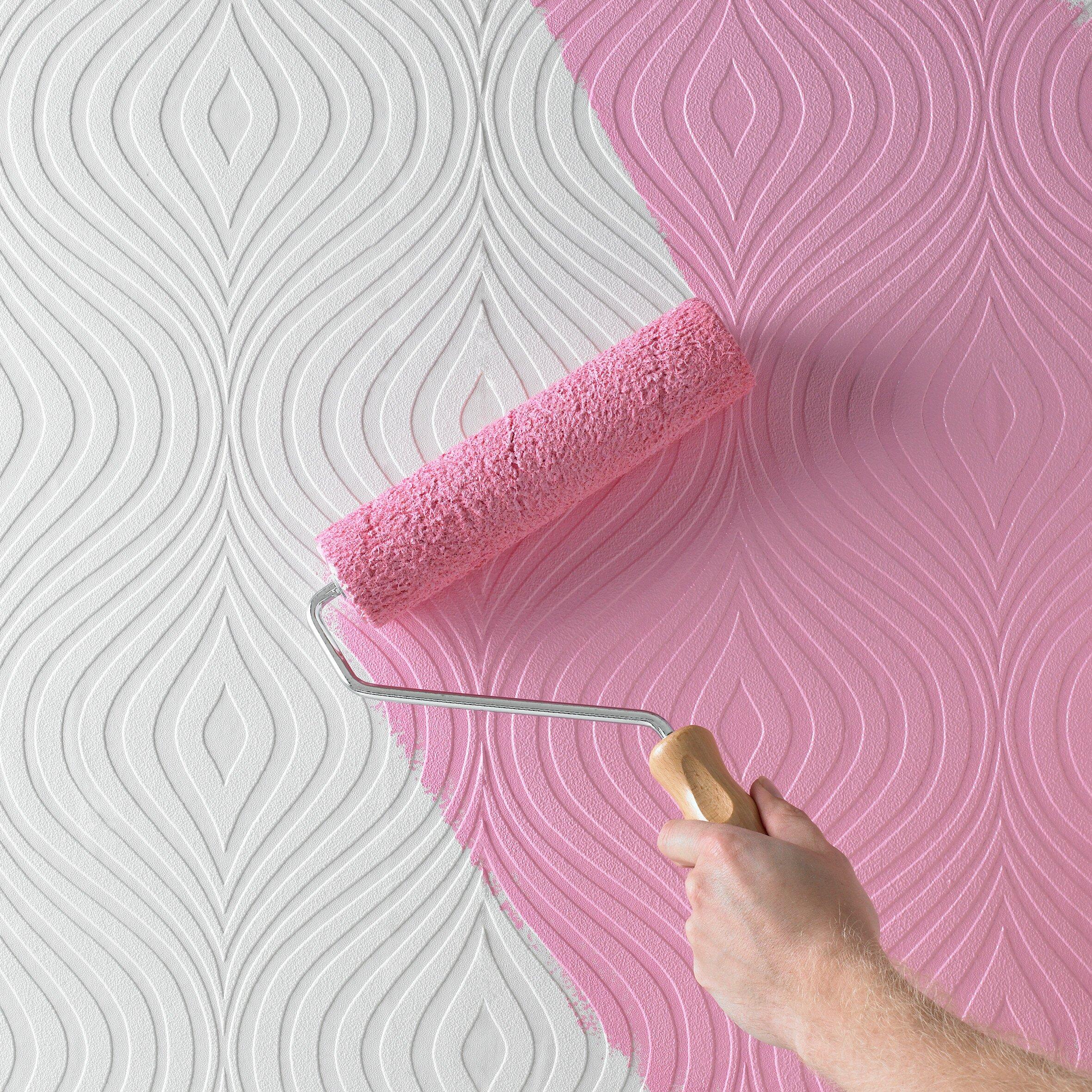 graham brown paintable curvy 33 39 x 20 geometric 3d. Black Bedroom Furniture Sets. Home Design Ideas