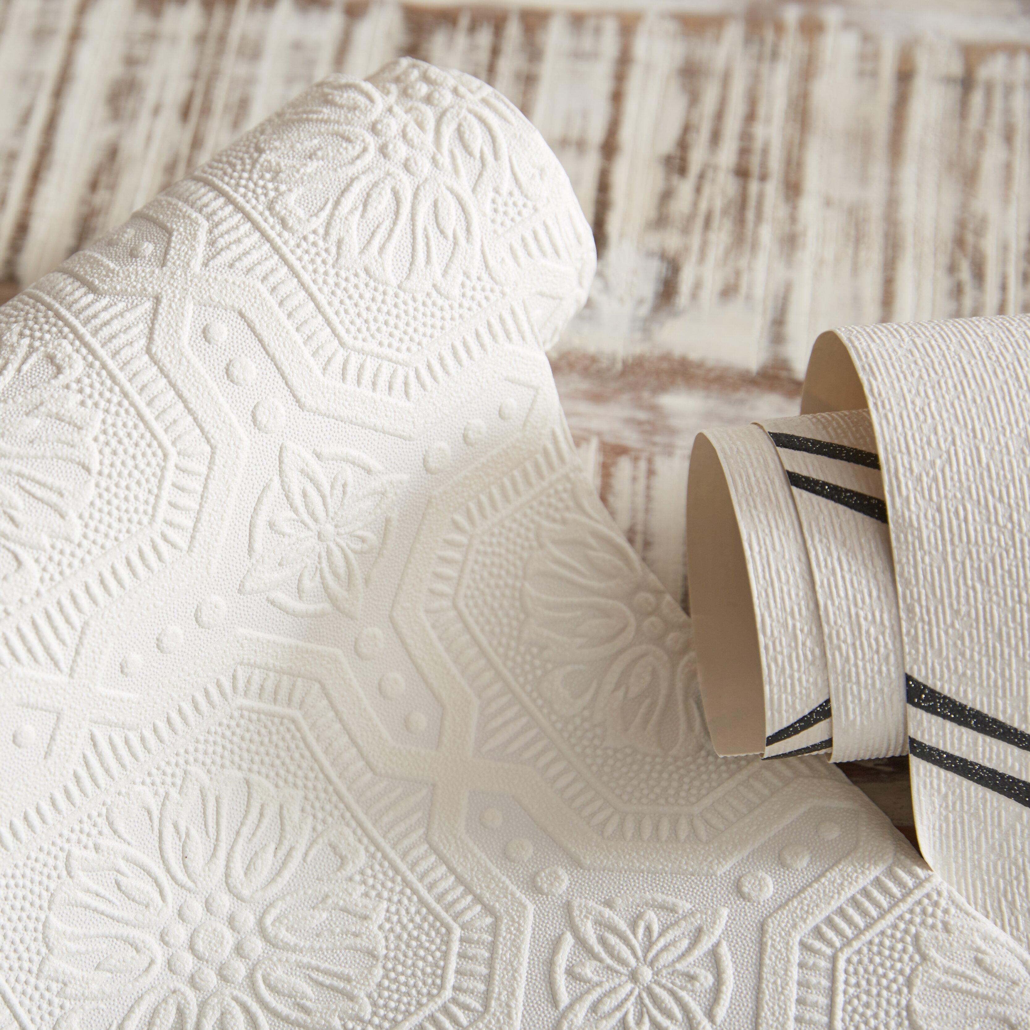 graham brown paintable 33 39 x 20 5 damask 3d embossed. Black Bedroom Furniture Sets. Home Design Ideas