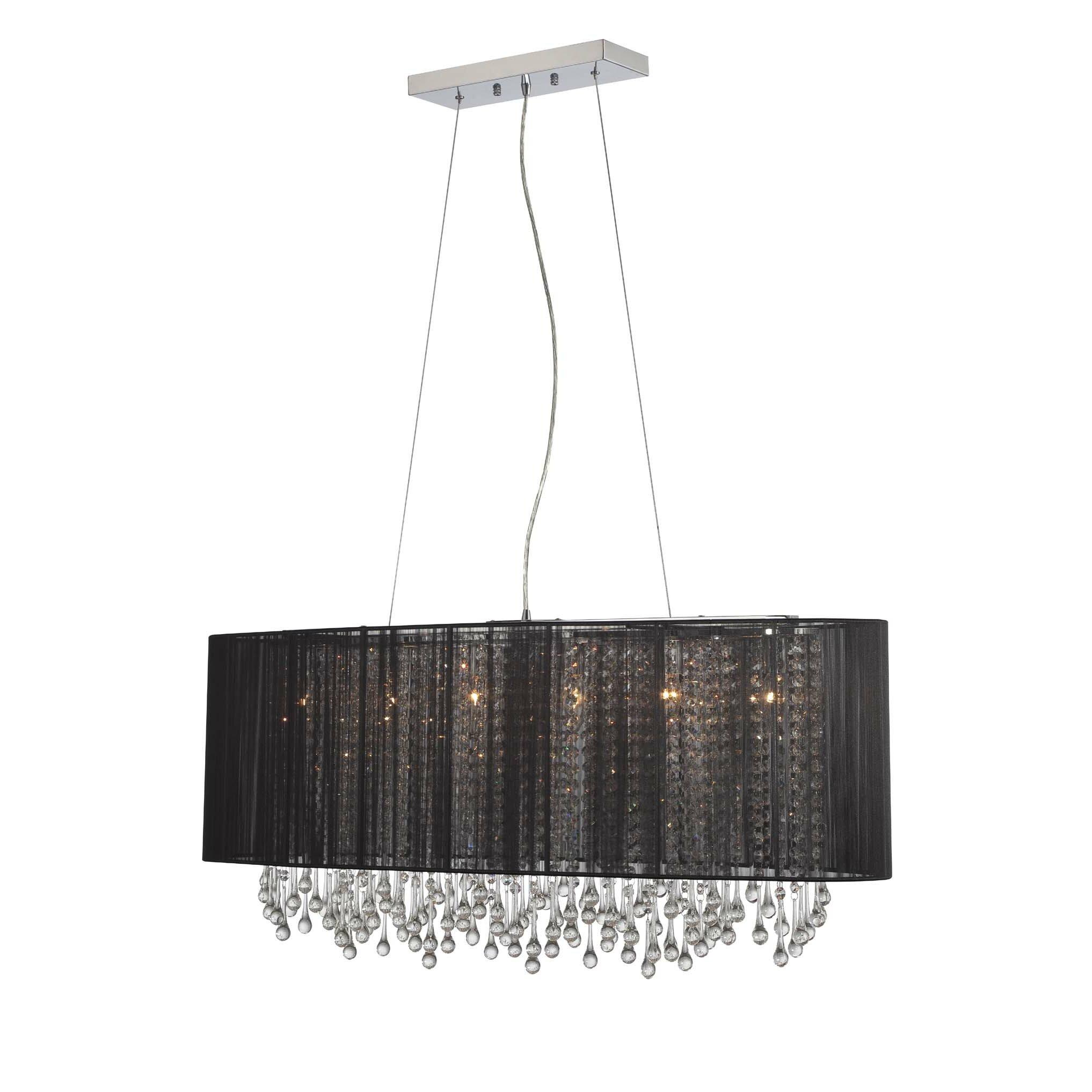 Avenue lighting beverly drive 6 light crystal chandelier for 6 light crystal chandelier