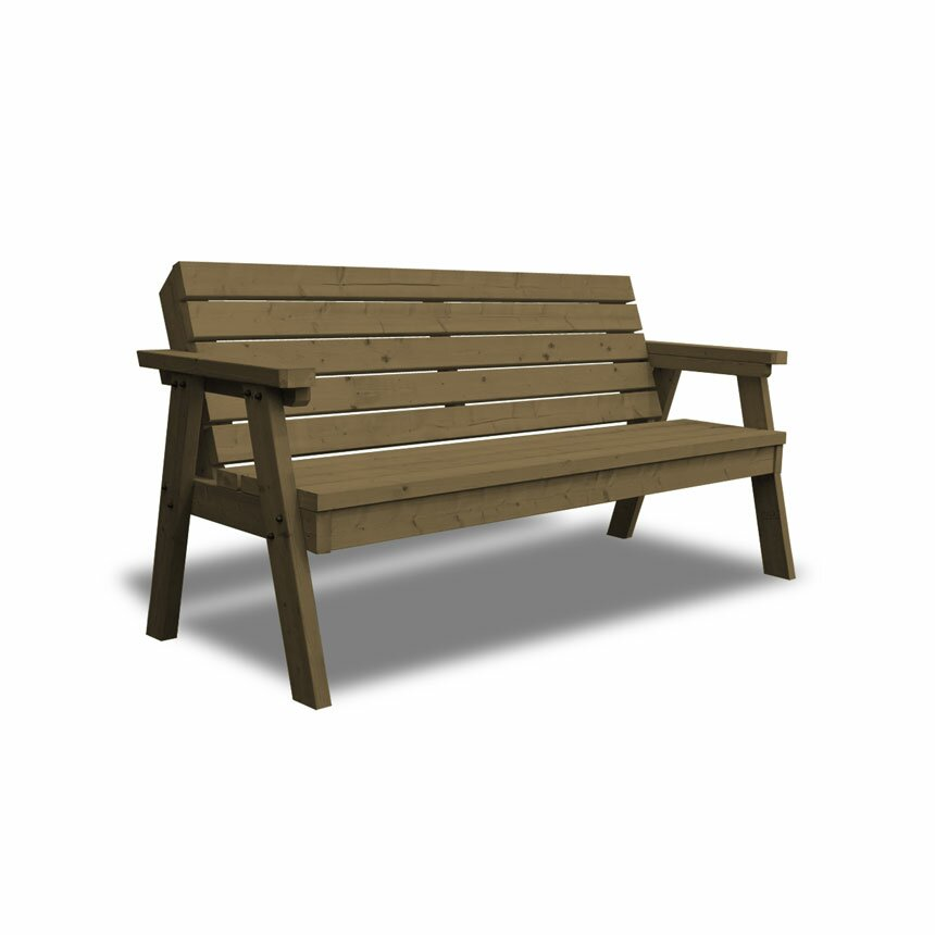 Dcor Design Thistleton Garden 3 Seater Steel Wooden Bench Wayfair Uk