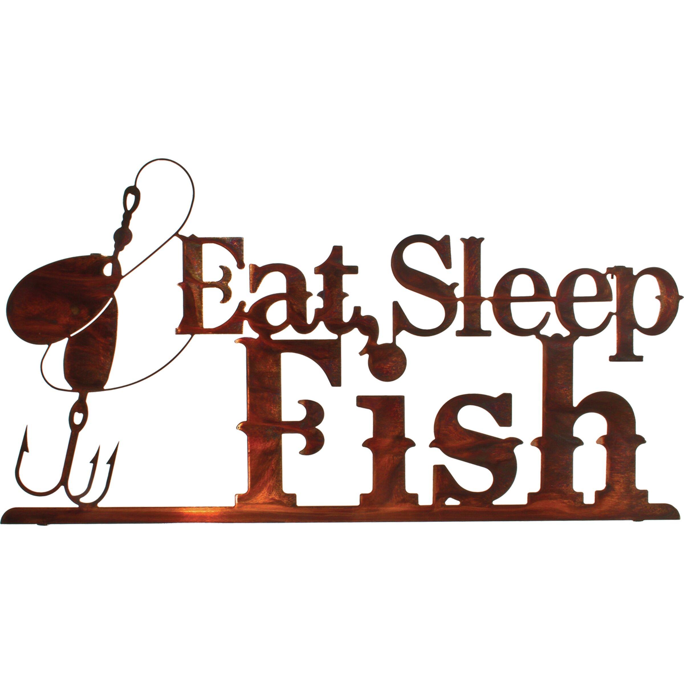 Lazart Eat/Sleep/Fish Wall Decor & Reviews