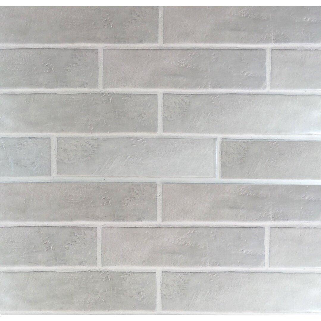 Mulia Tile Loft Wavy Edge Subway Tile In Gray Amp Reviews