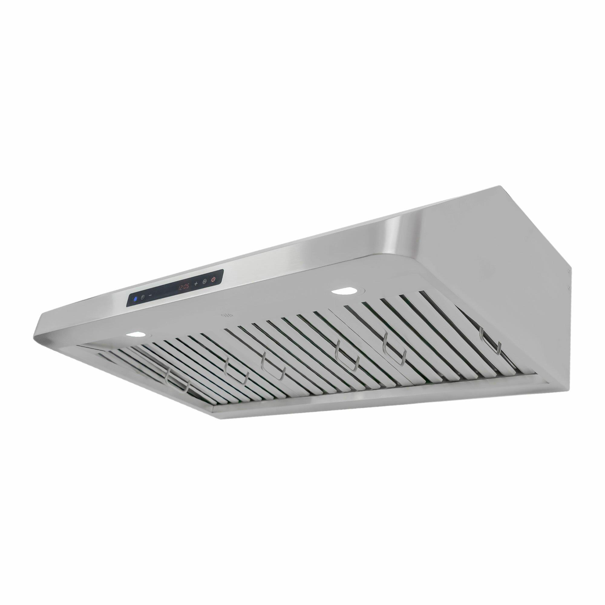 Kitchen Cabinet Manufacturers List Cosmo 30 Quot 900 Cfm Under Cabinet Range Hood Amp Reviews Wayfair
