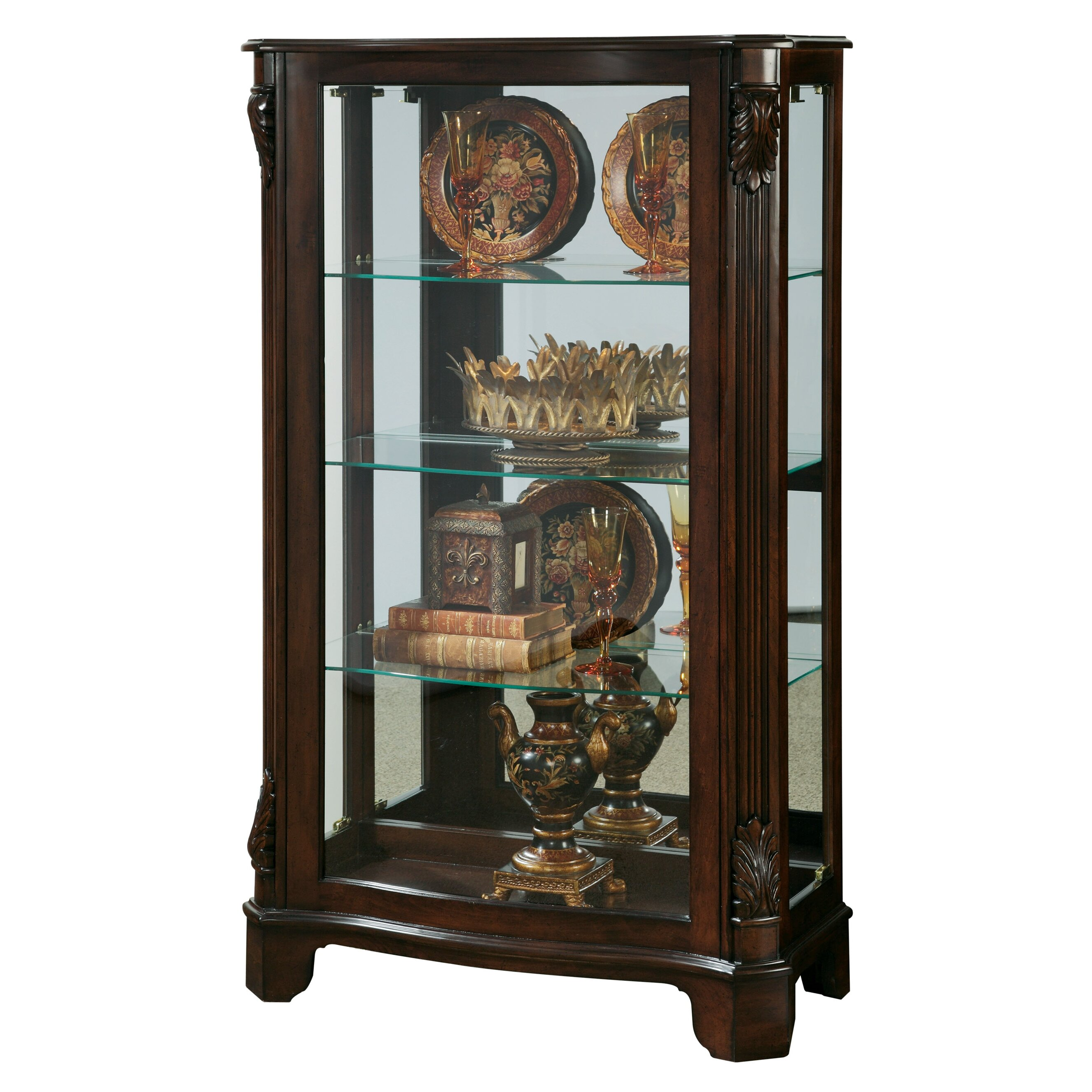 Pulaski Mantel Curio Cabinet Amp Reviews Wayfair