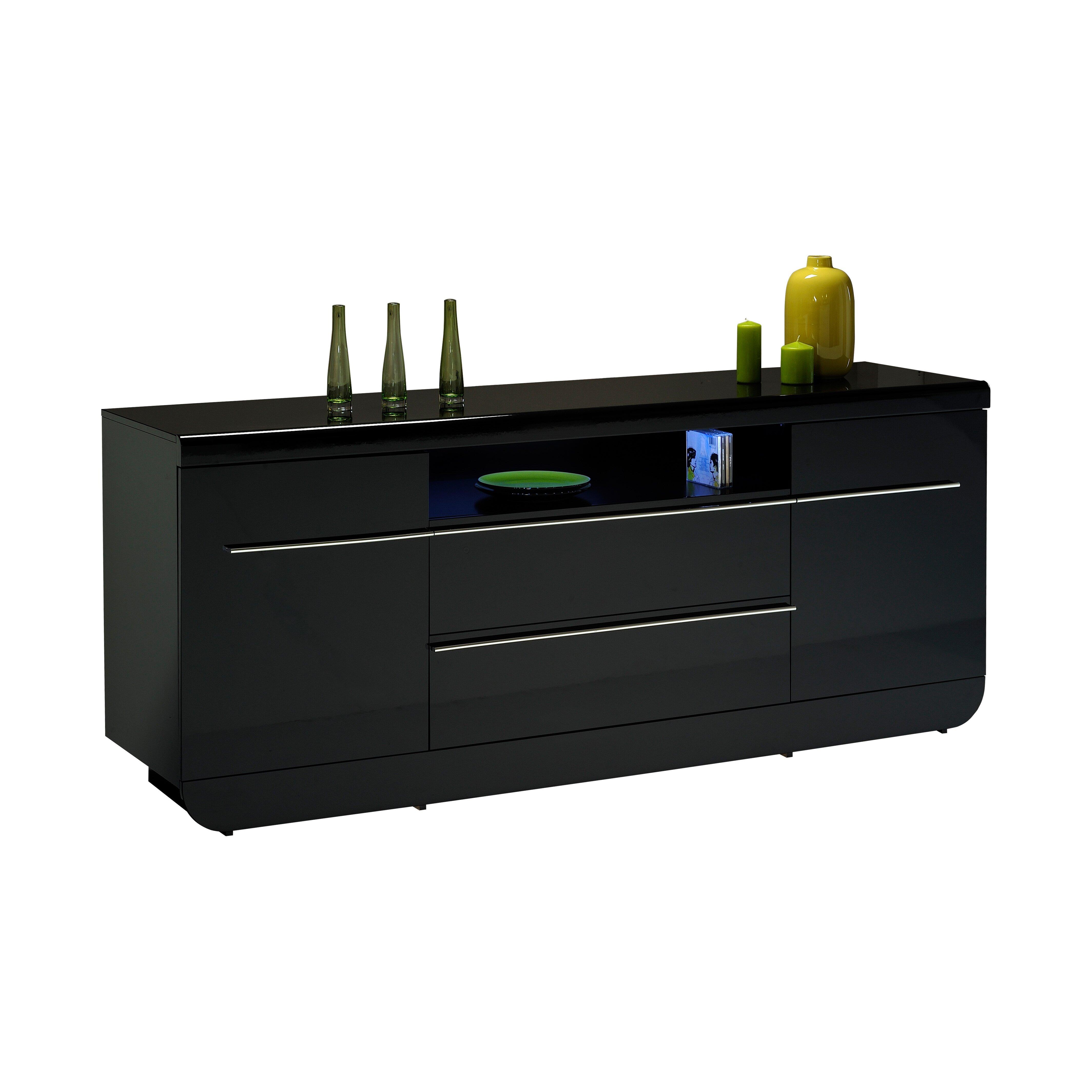 urban designs annfield 2 door 2 drawer sideboard reviews wayfair uk. Black Bedroom Furniture Sets. Home Design Ideas
