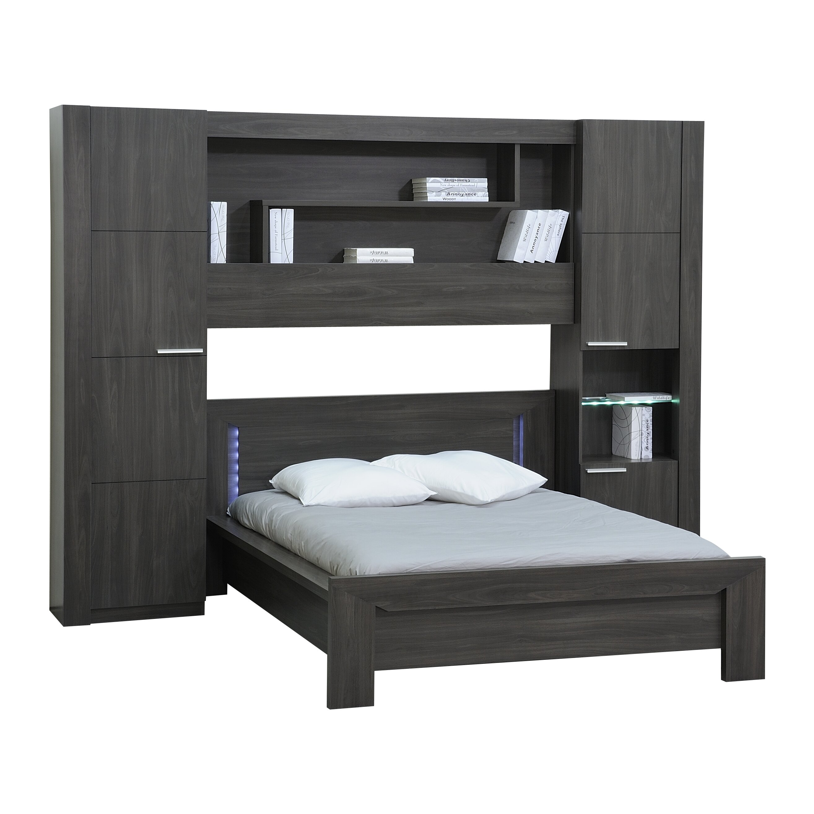 urban designs oceane wood bookcase headboard wayfair uk. Black Bedroom Furniture Sets. Home Design Ideas
