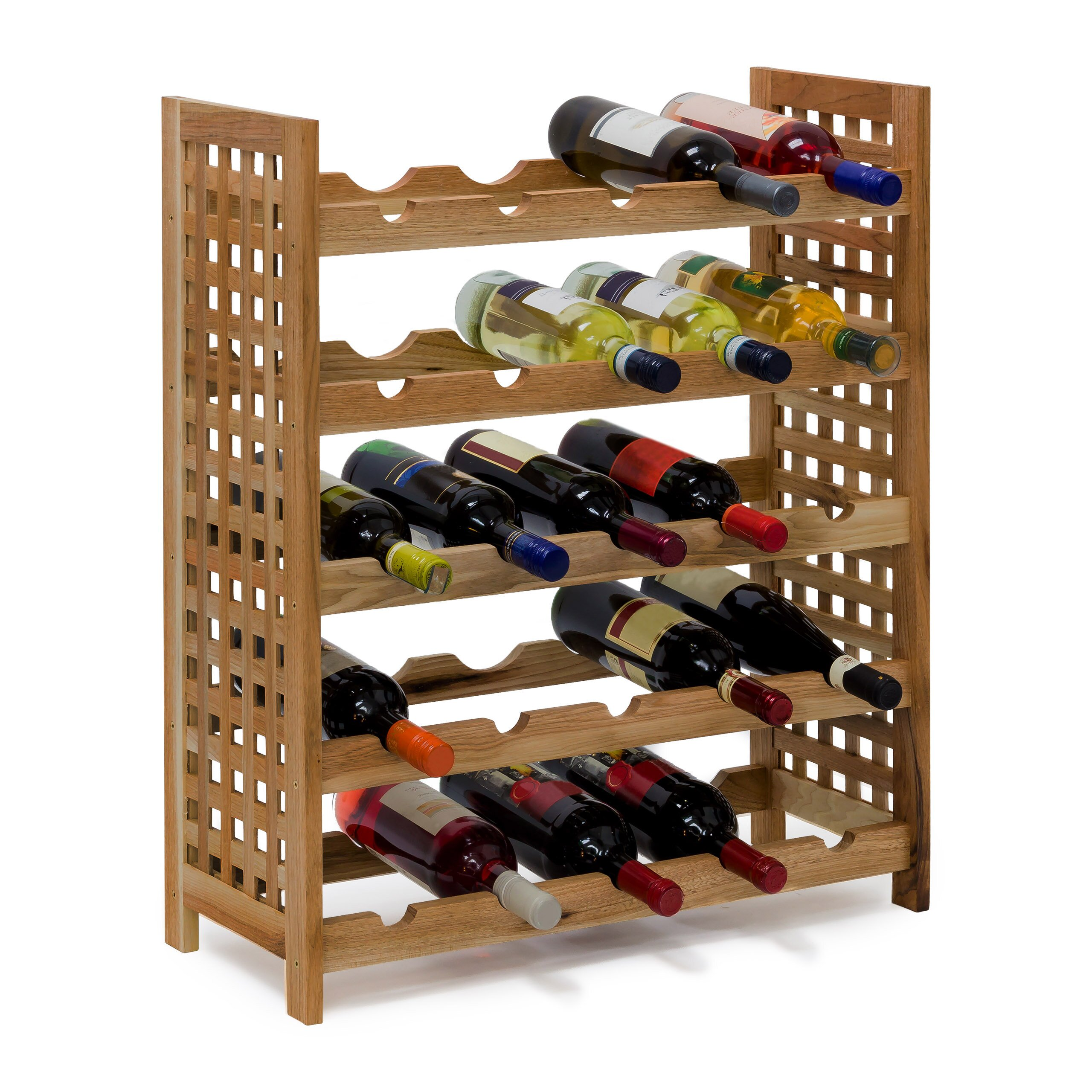 Floor Wine Rack Of Castleton Home 25 Bottle Floor Wine Rack Reviews