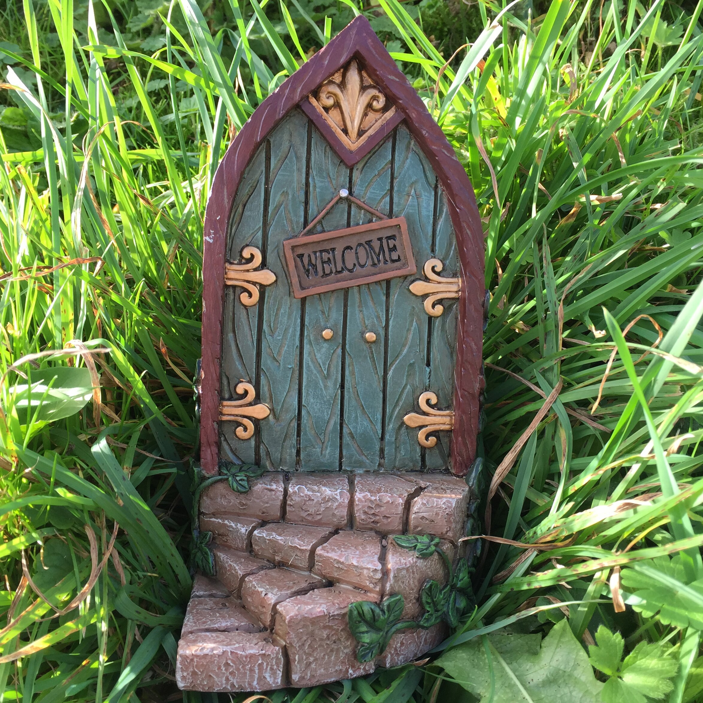 Castleton home fairy curved step metalwork wood decorative for The fairy door