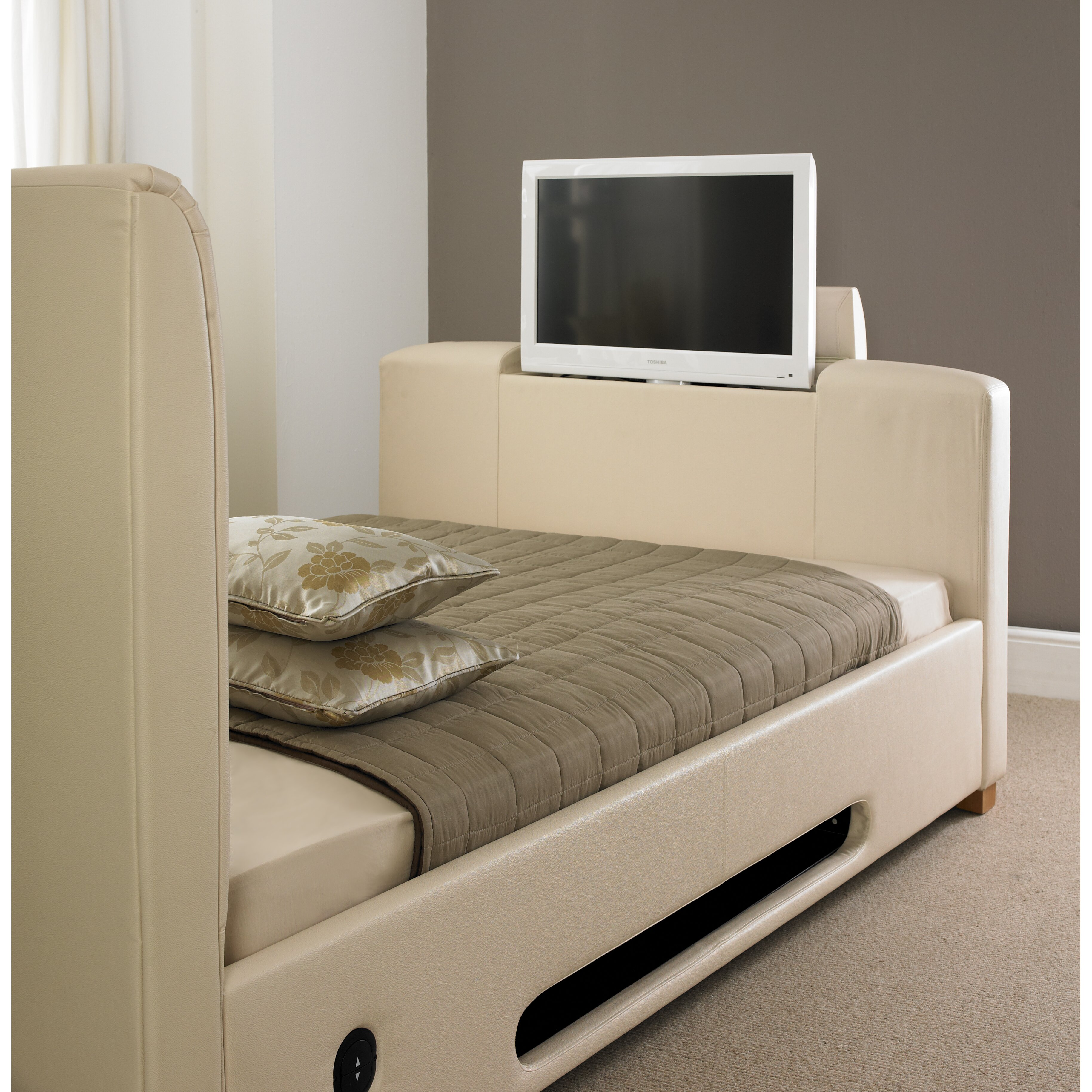 Castleton Home Plain Upholstered Tv Bed Wayfair Uk
