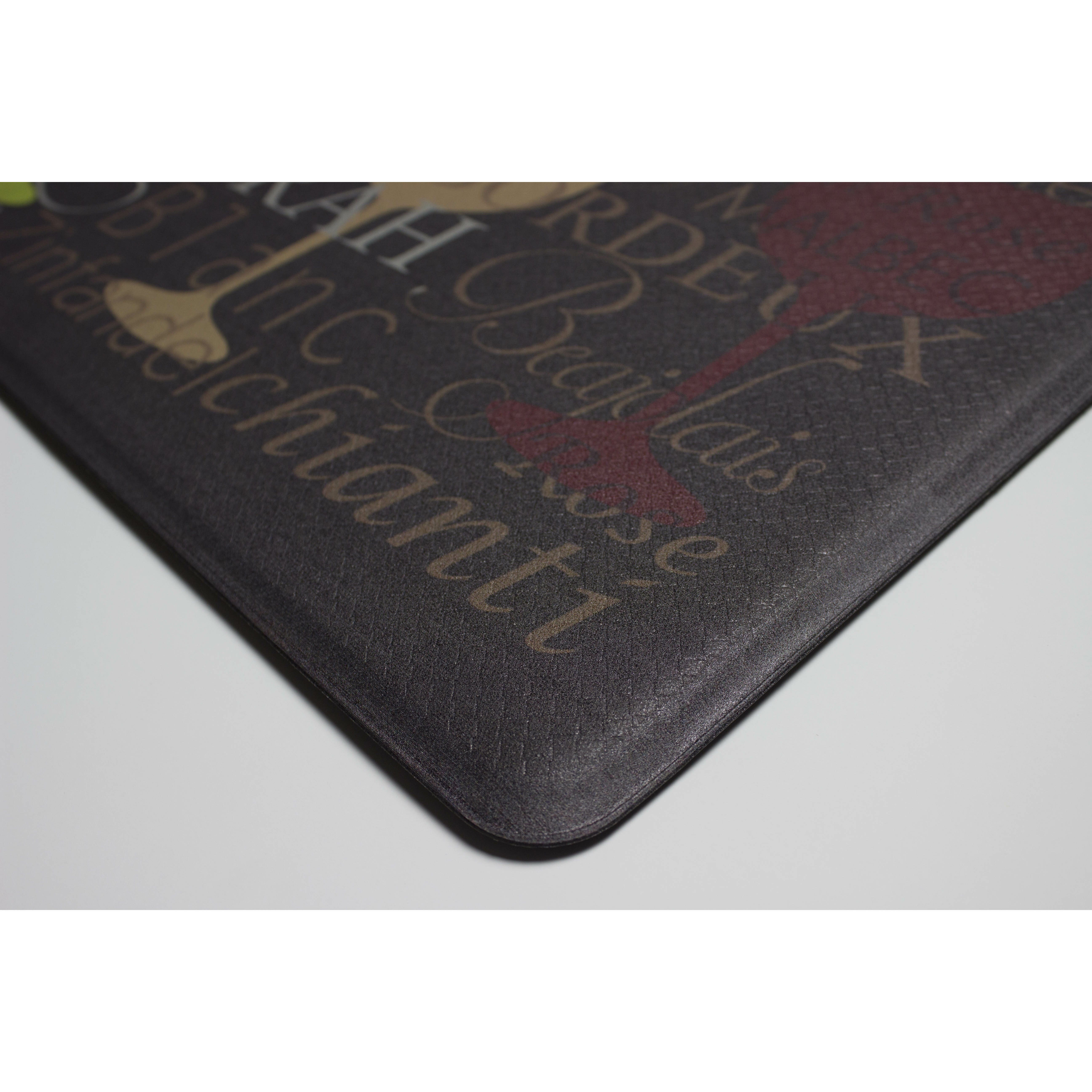 Chef Gear Wine Typography Anti Fatigue Cushioned Chef Mat