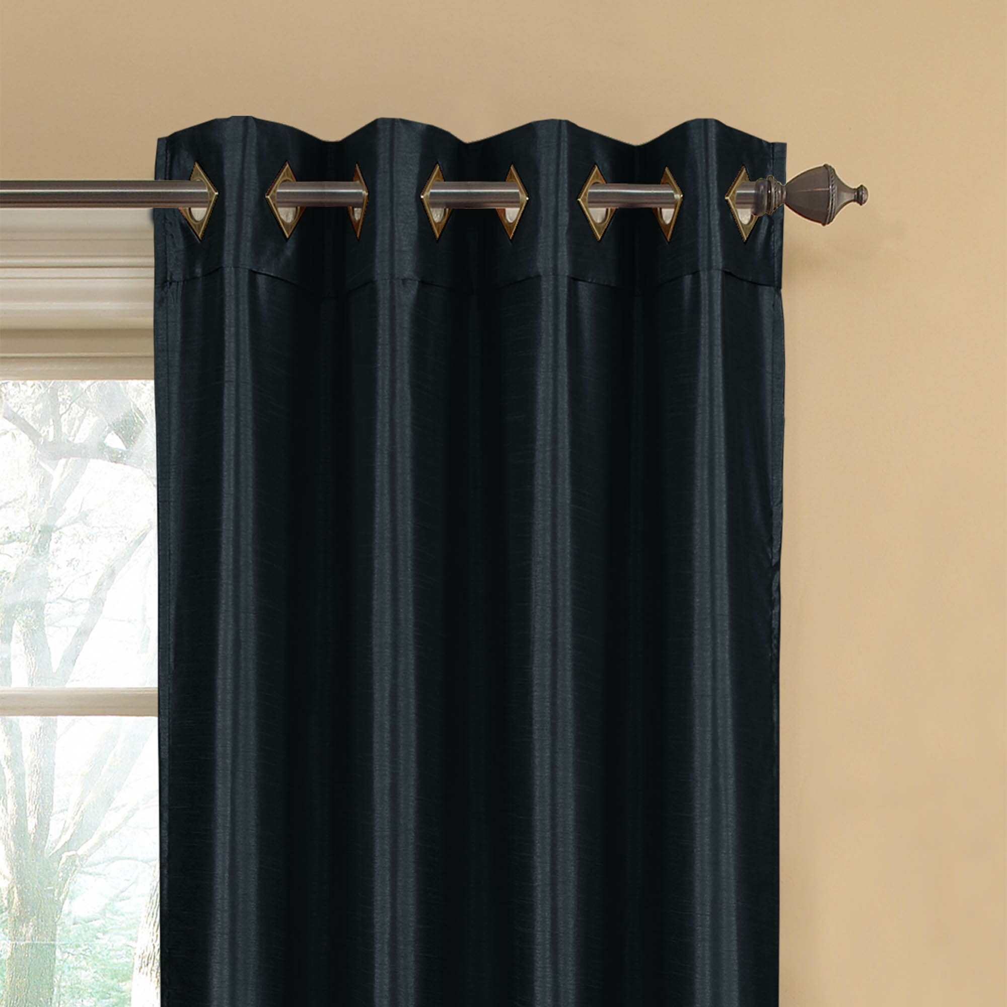 Window Elements Kim Extra Wide Grommet Curtain Panels Reviews Wayfair