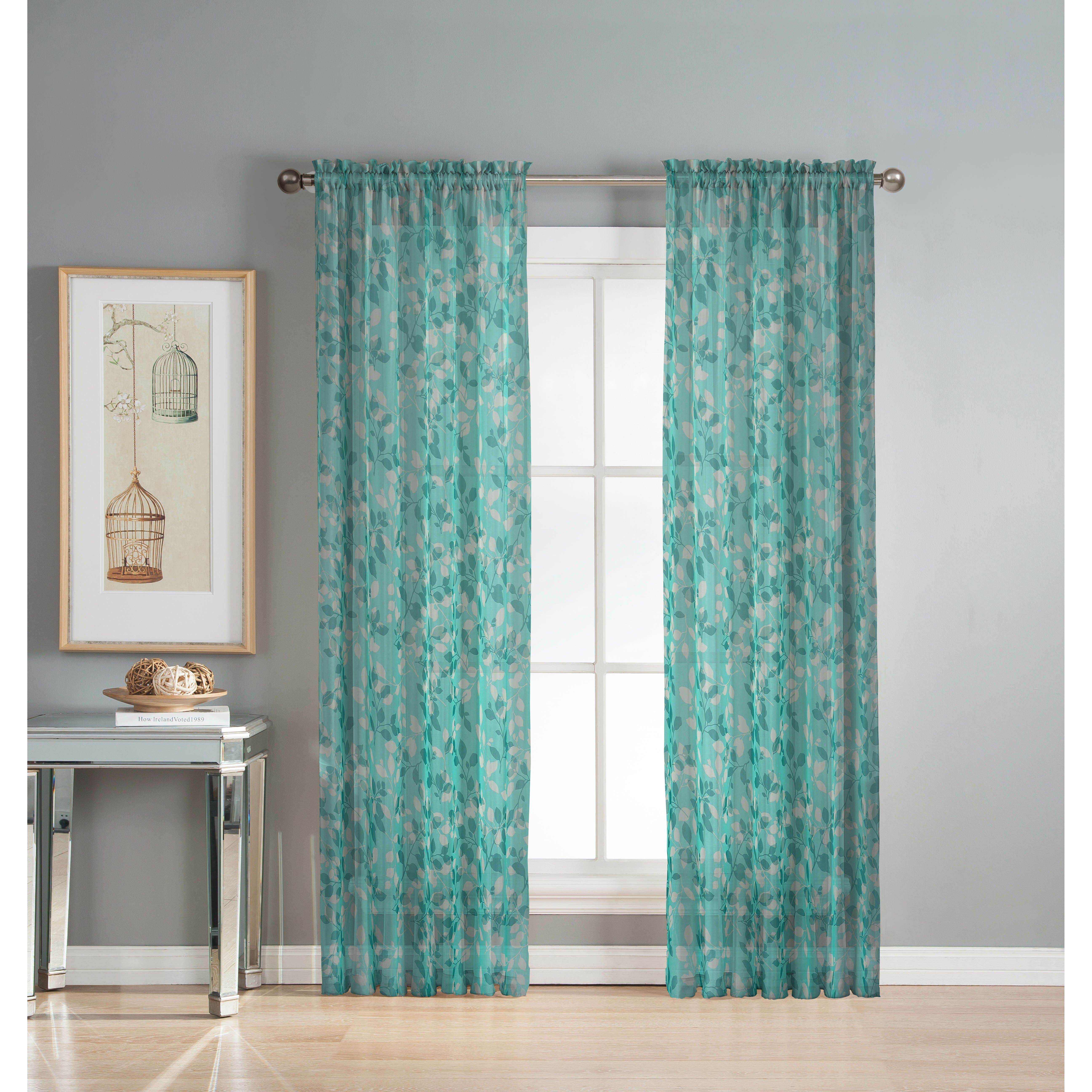 Window Elements Pinehurst Printed Sheer Curtain Panels