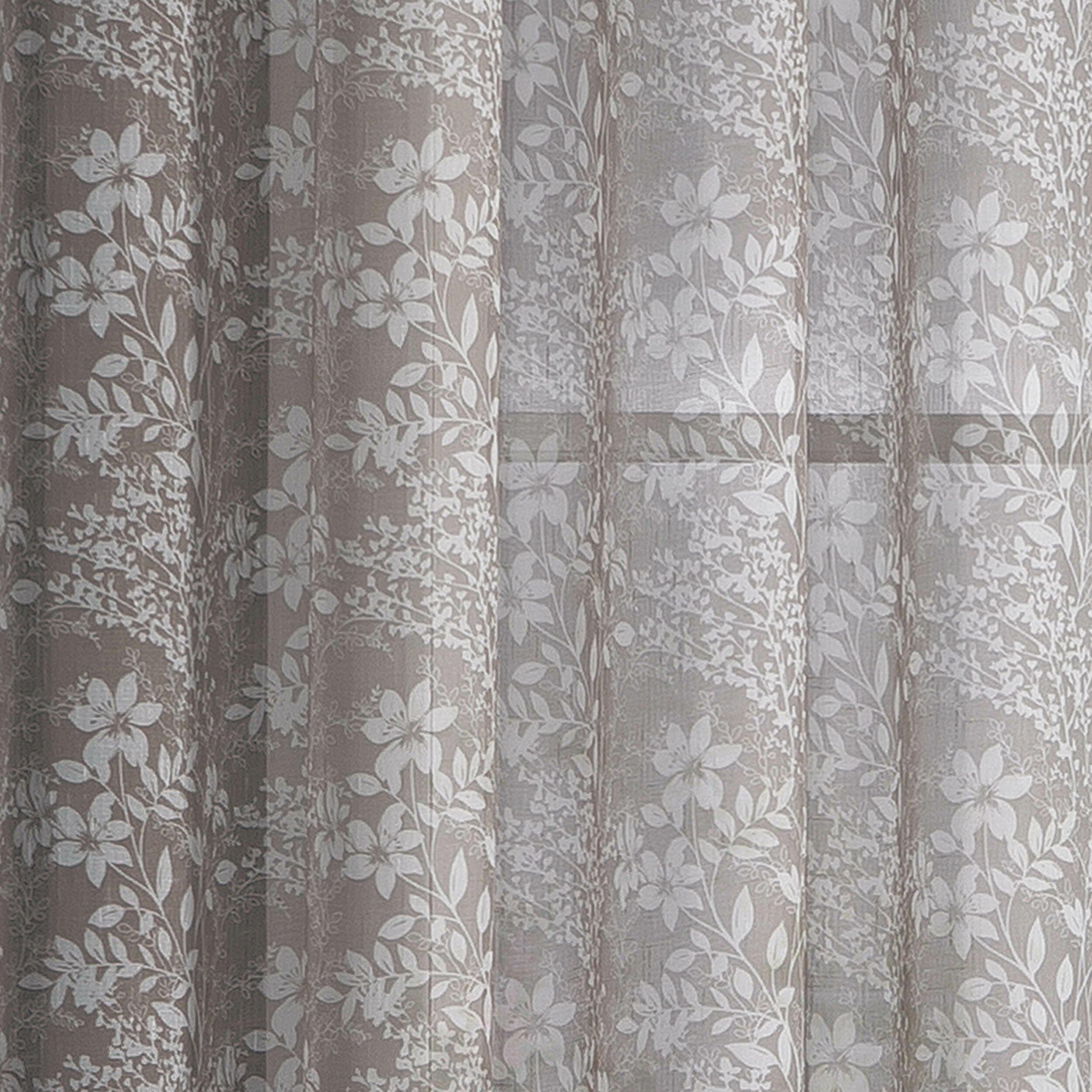 Window elements garden faux linen semi sheer extra wide for Linen sheer window panels