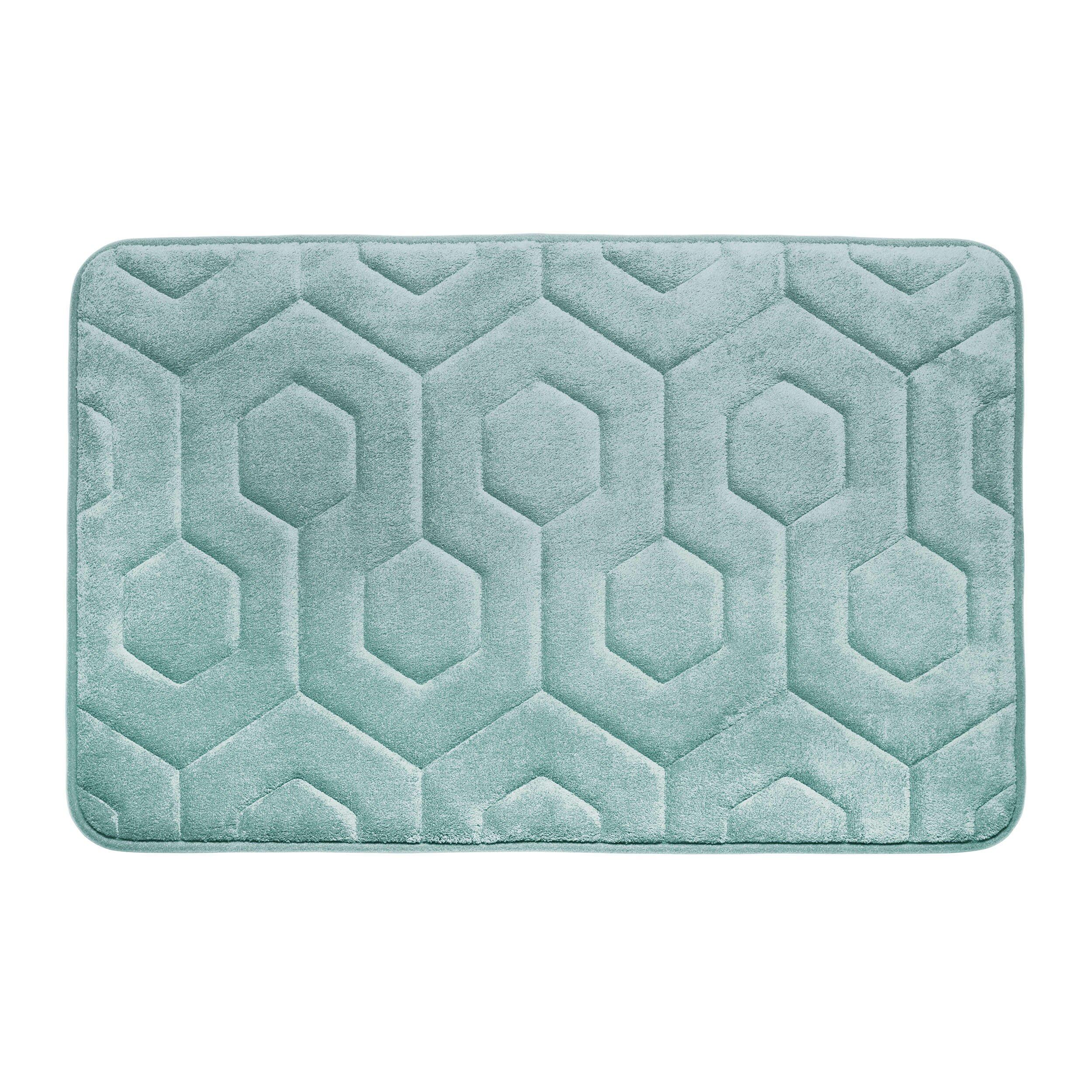 bath studio hexagon micro plush memory foam bath mat reviews wayfair. Black Bedroom Furniture Sets. Home Design Ideas