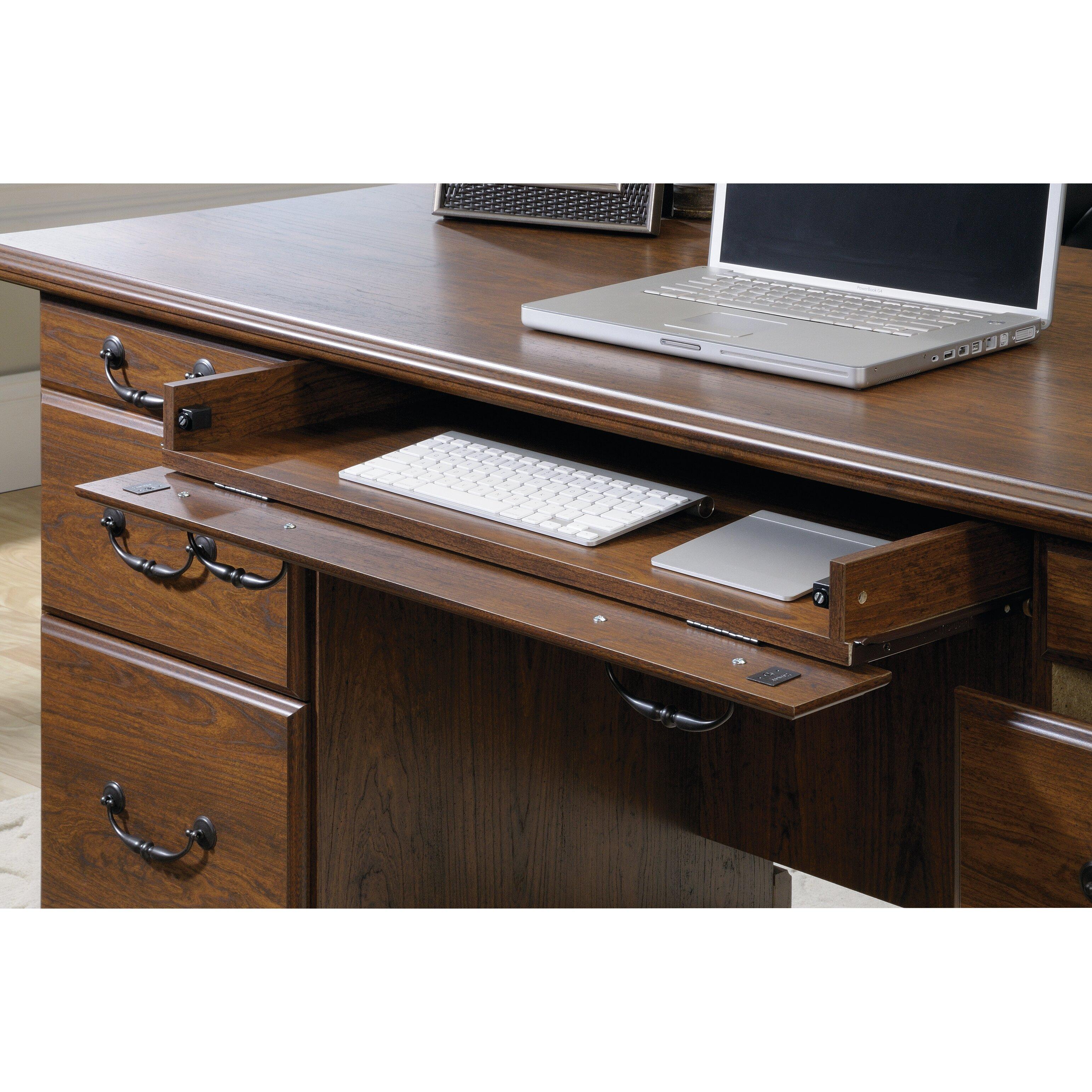 Three Posts Bauman Executive Desk Amp Reviews Wayfair