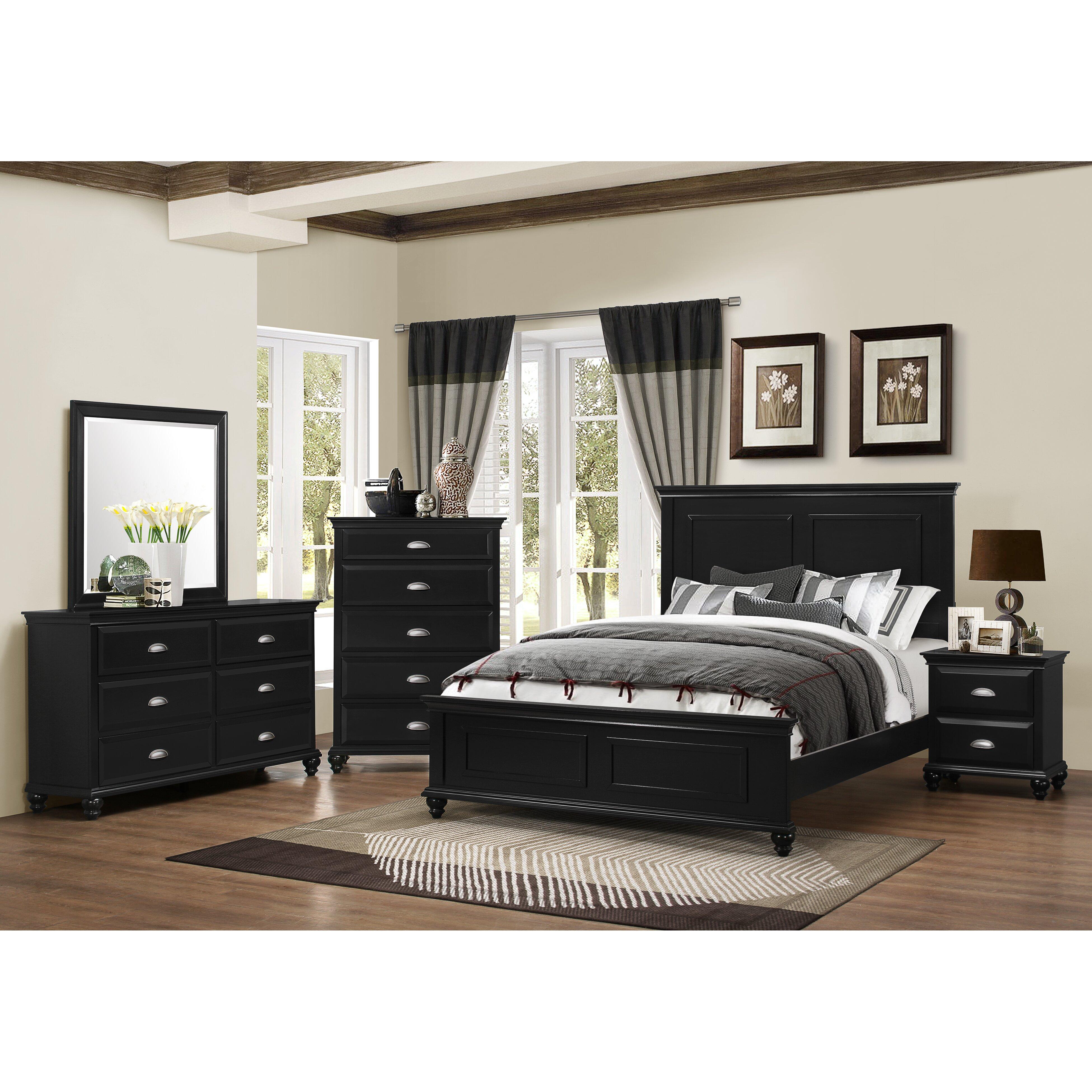 three posts simmons casegoods centerville panel customizable bedroom set reviews wayfair. Black Bedroom Furniture Sets. Home Design Ideas