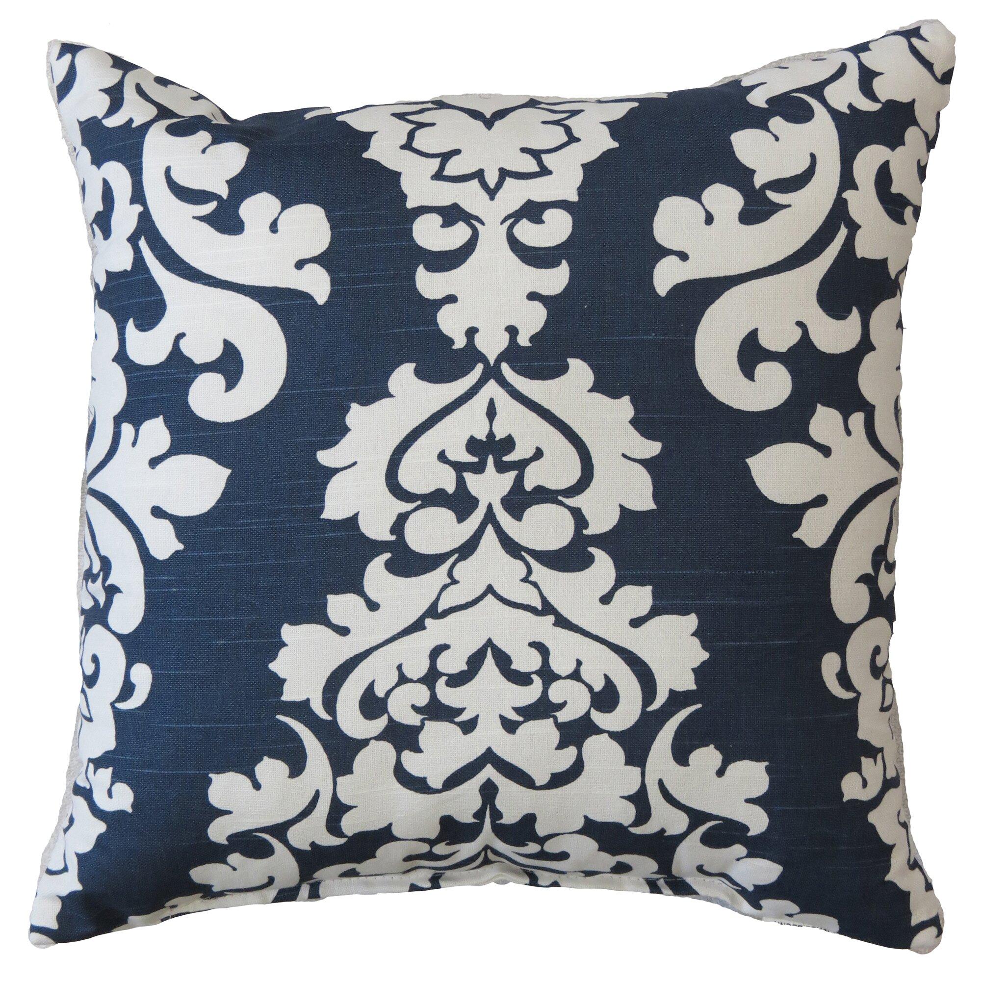 Three Posts Palmdale Indoor/Outdoor Damask Cotton Throw Pillow & Reviews Wayfair