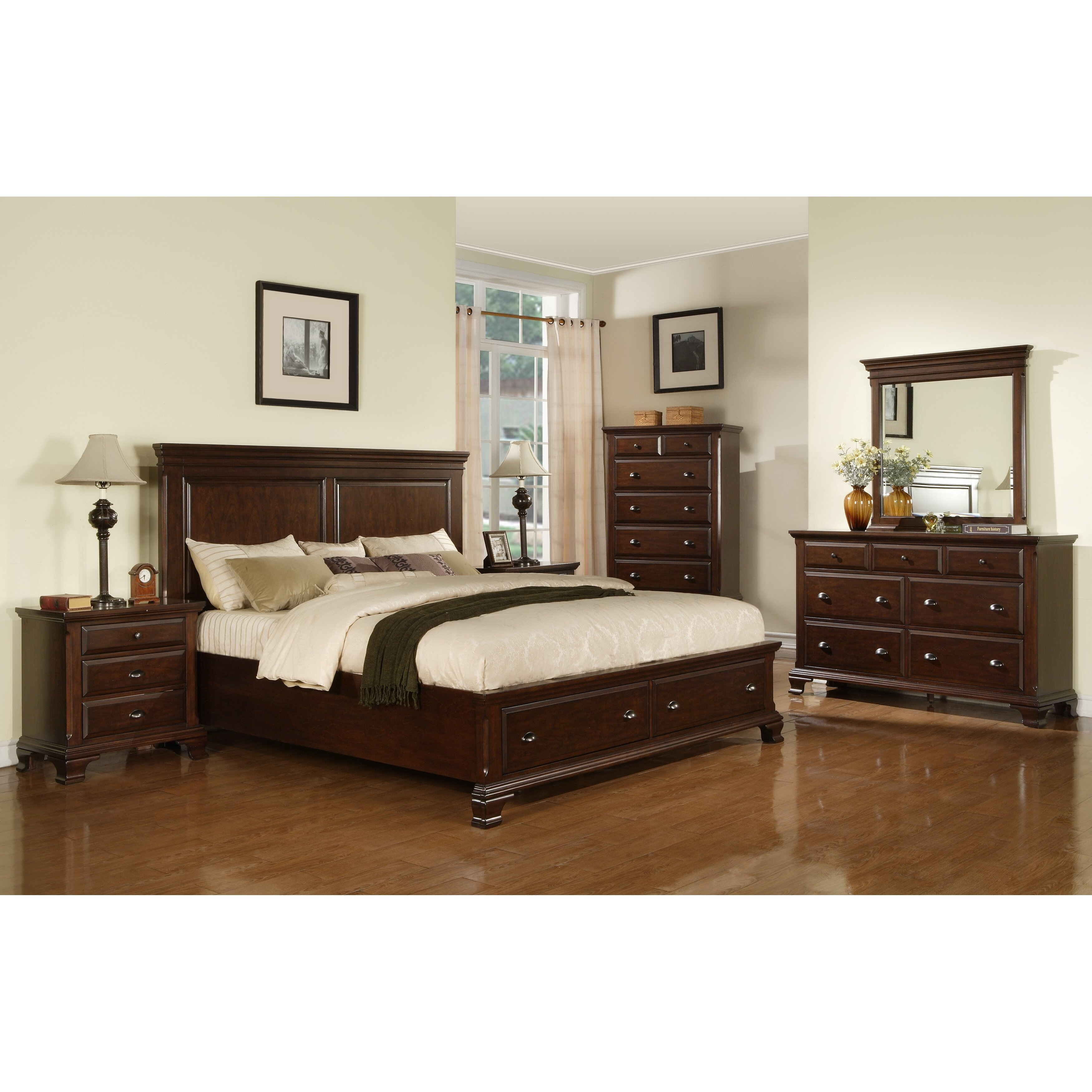 Three Posts Plattsburgh Panel Customizable Bedroom Set